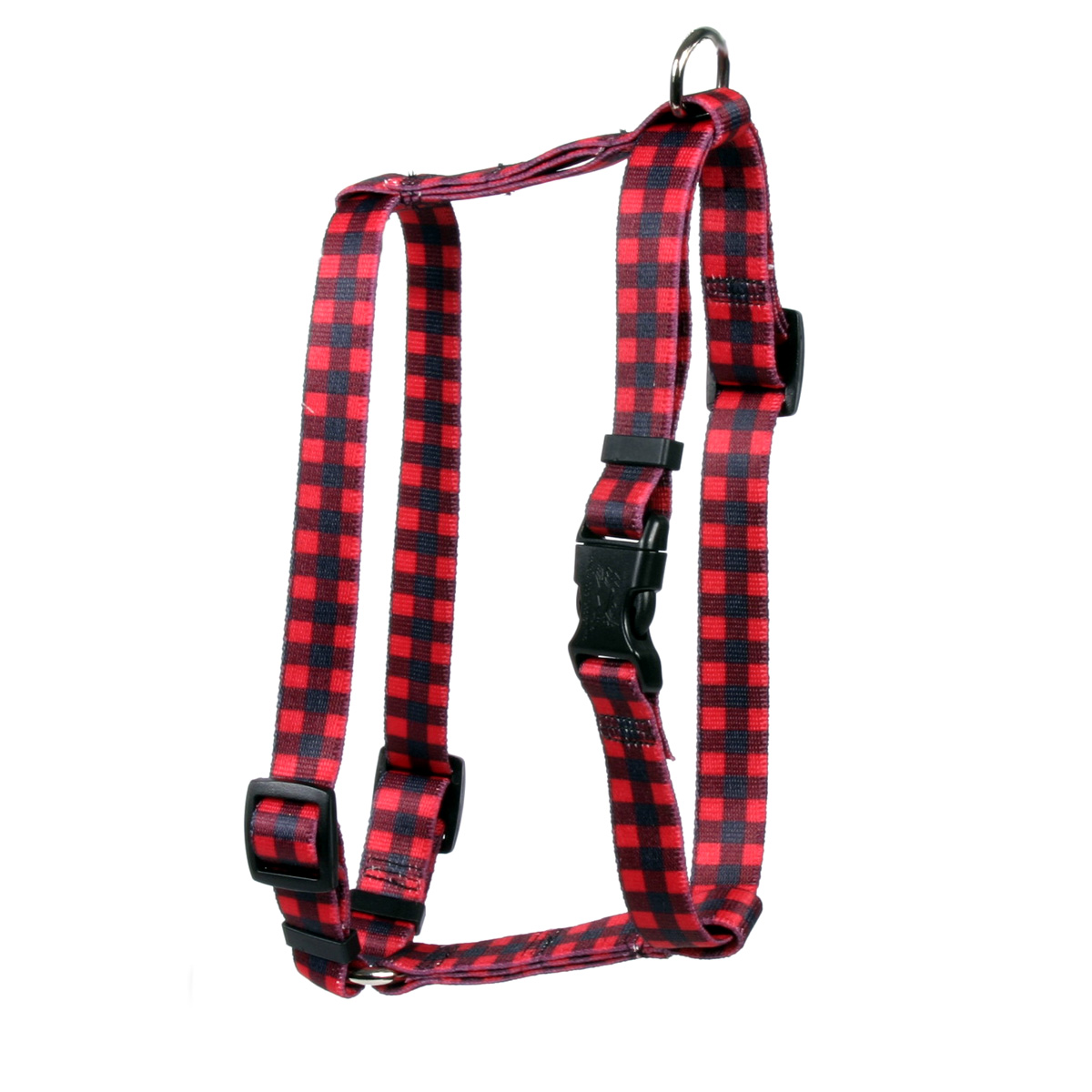 Buffalo Plaid Red Roman H Harness