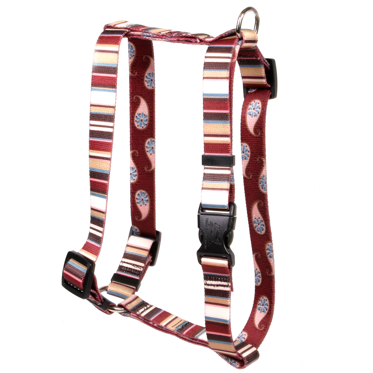 Burgundy Stripes Roman H Harness