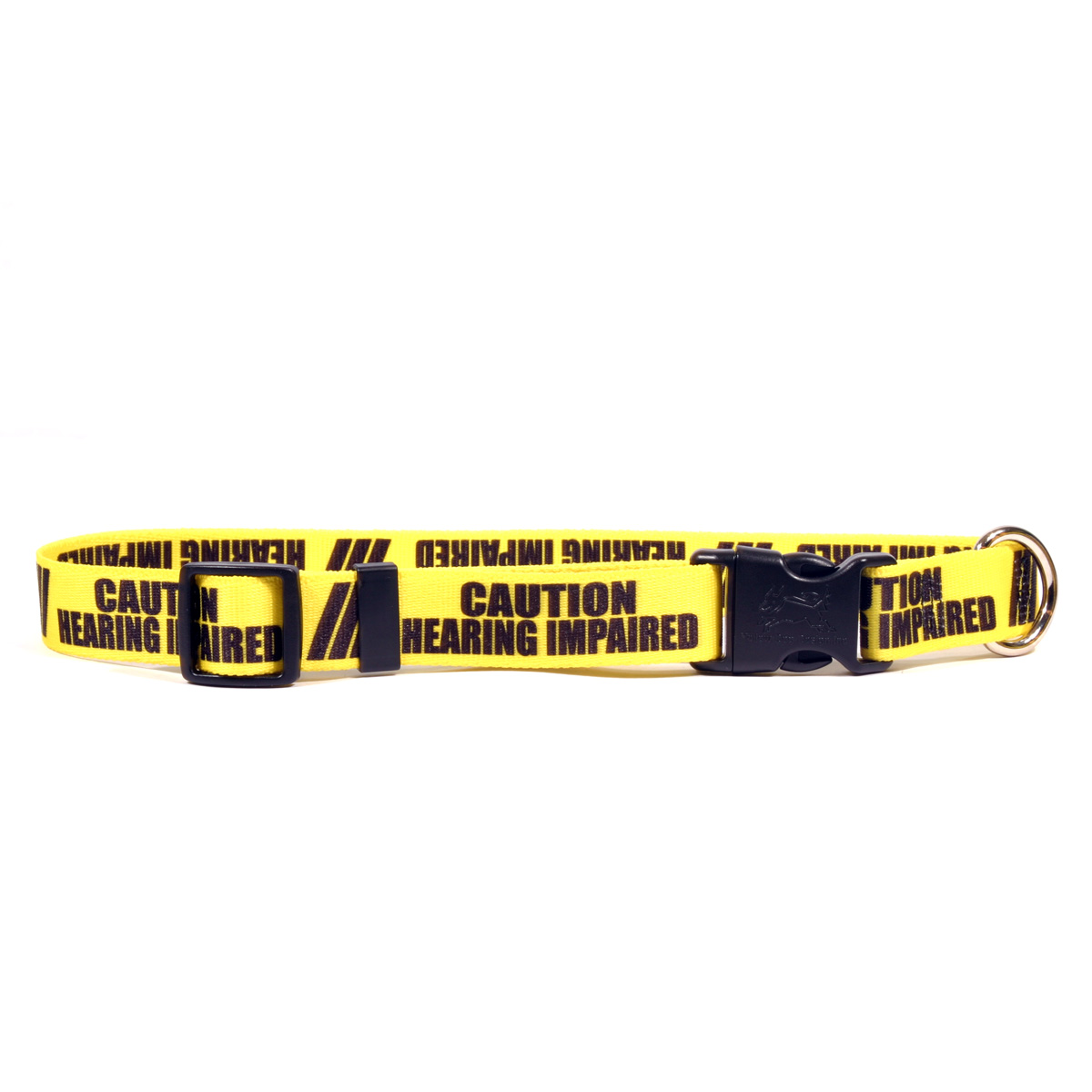 1 Inch - Caution Hearing Impaired Dog Collar