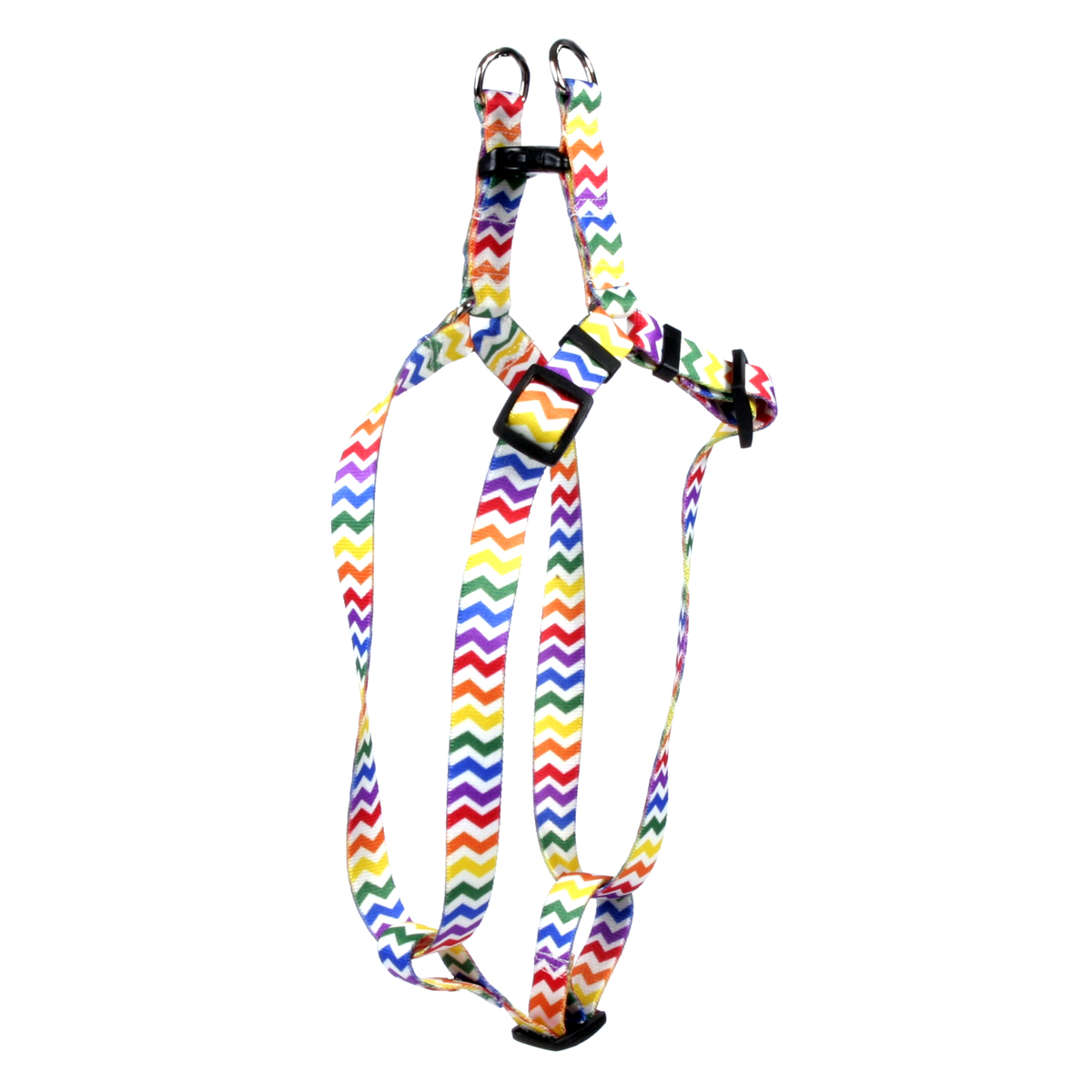 Candy Stripe Chevron Step-In Harness