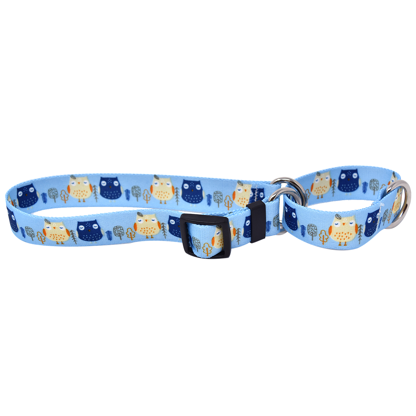 Day and Night Owls Martingale Collar