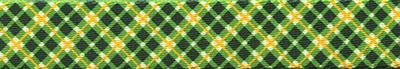 Green and Gold Diagonal Plaid