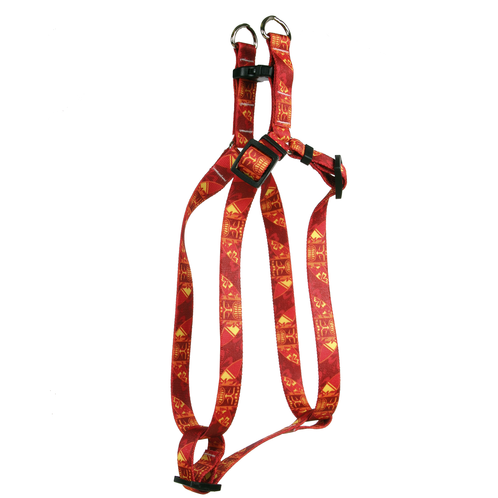 Flaming Tiki Red Step-In Harness