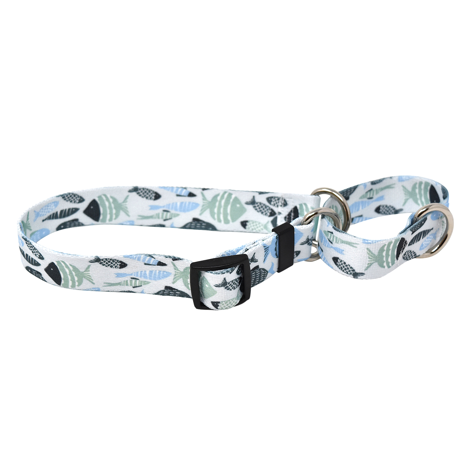 Go Fish Mint & Blue Martingale Collar