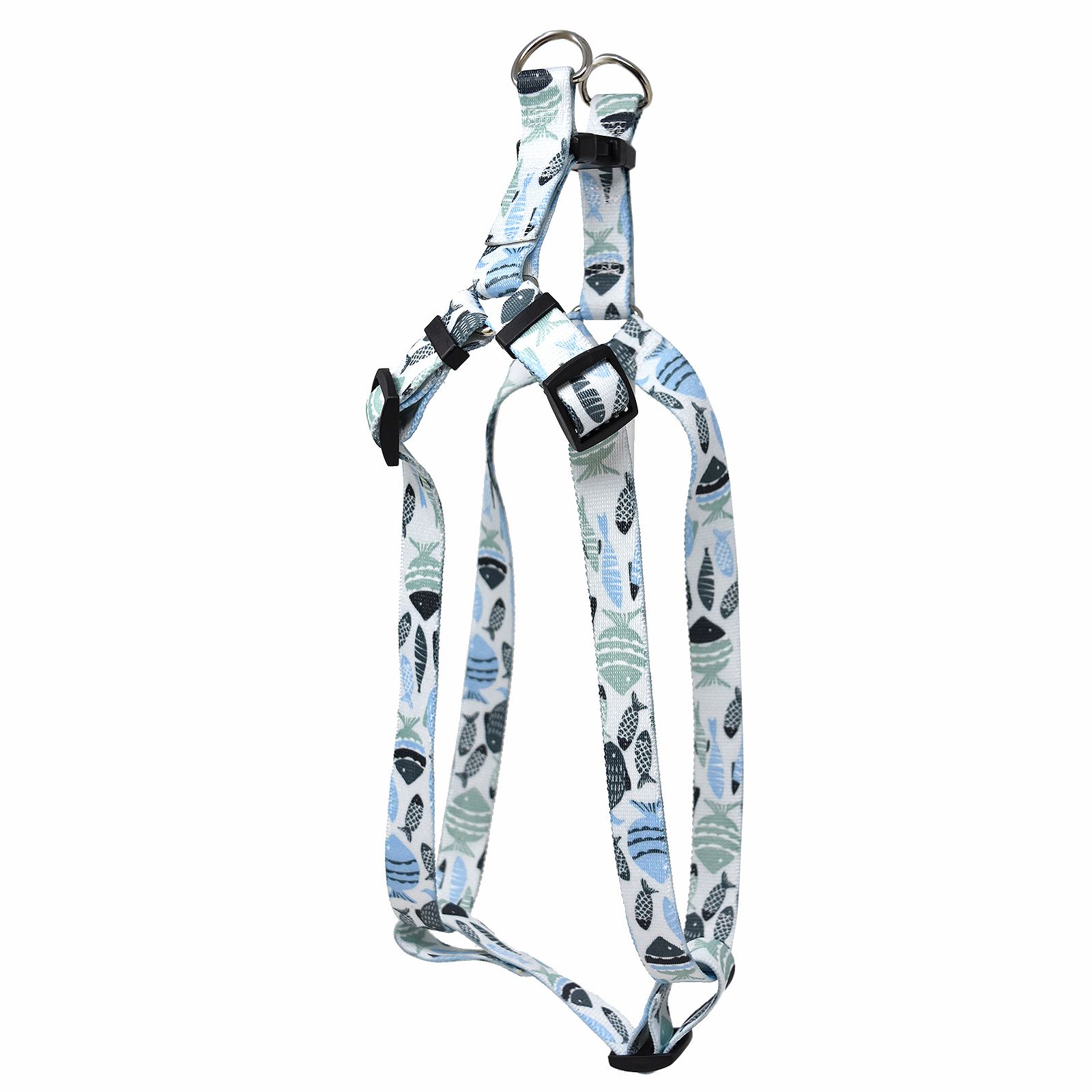 Go Fish Mint & Blue Step-In Harness