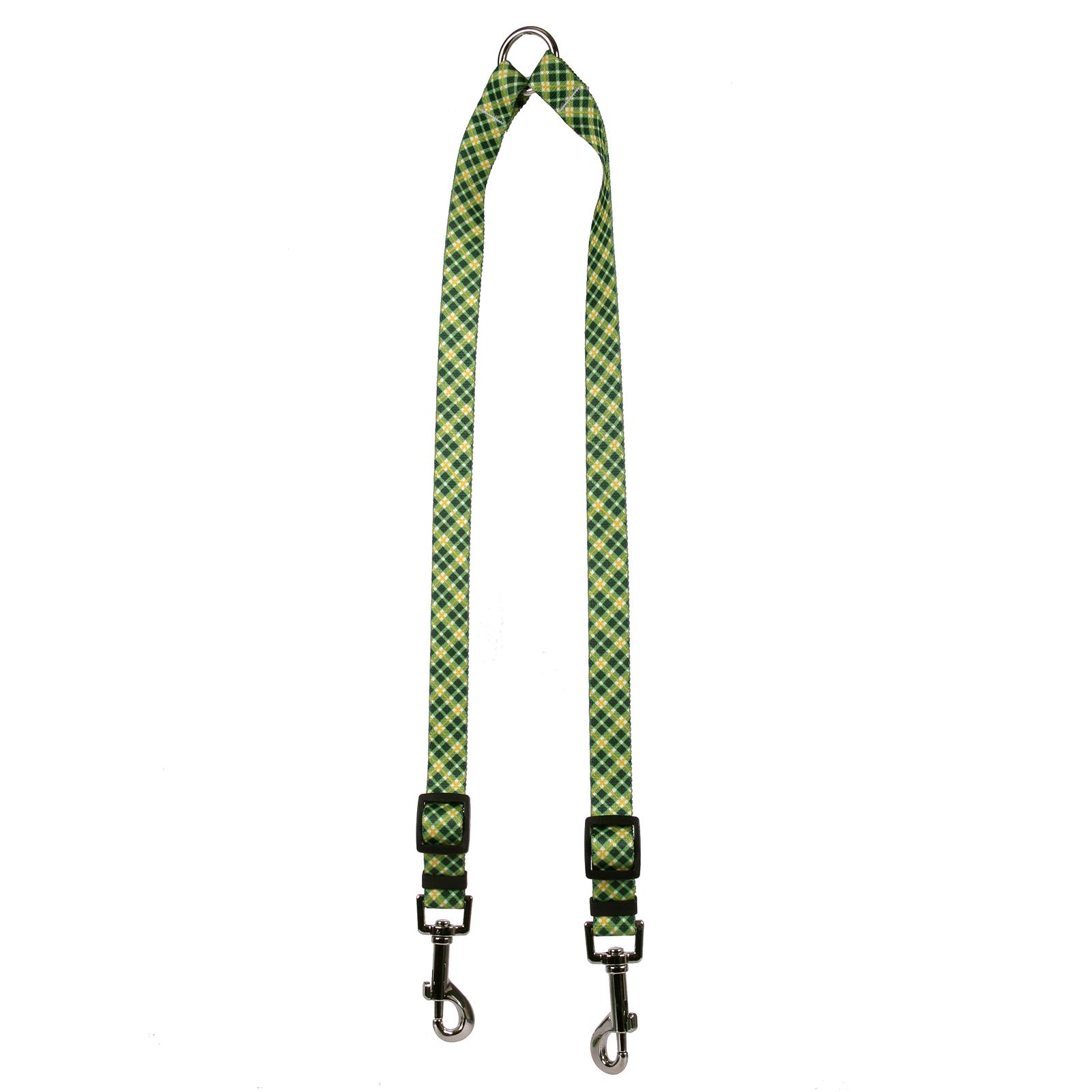 Green and Gold Diagonal Plaid Coupler Lead