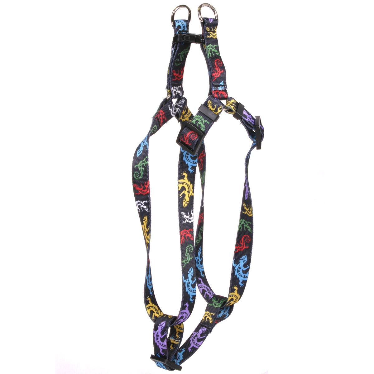 Geckos Black Step-In Harness
