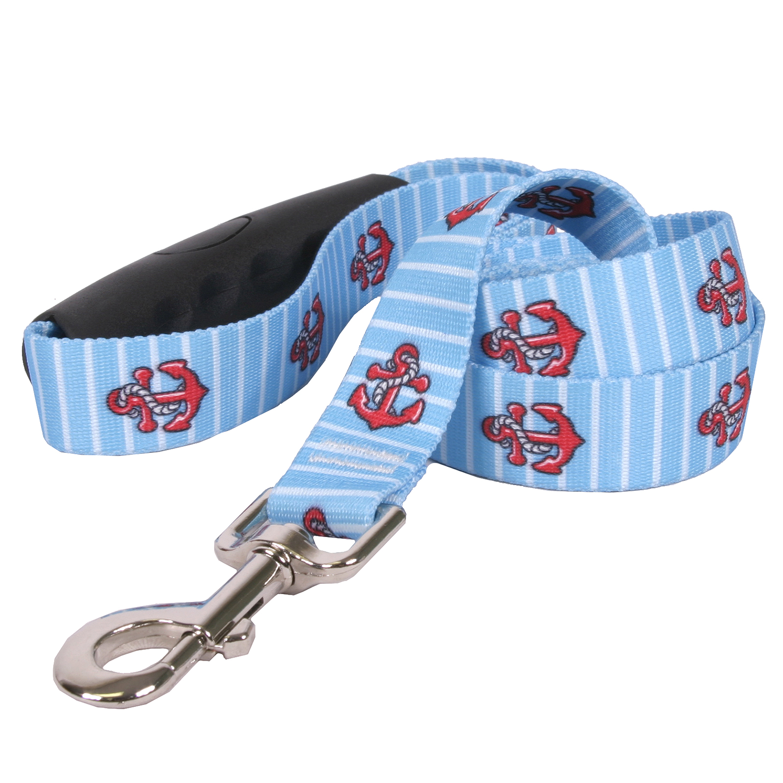 Anchors on Blue Stripes EZ-Lead