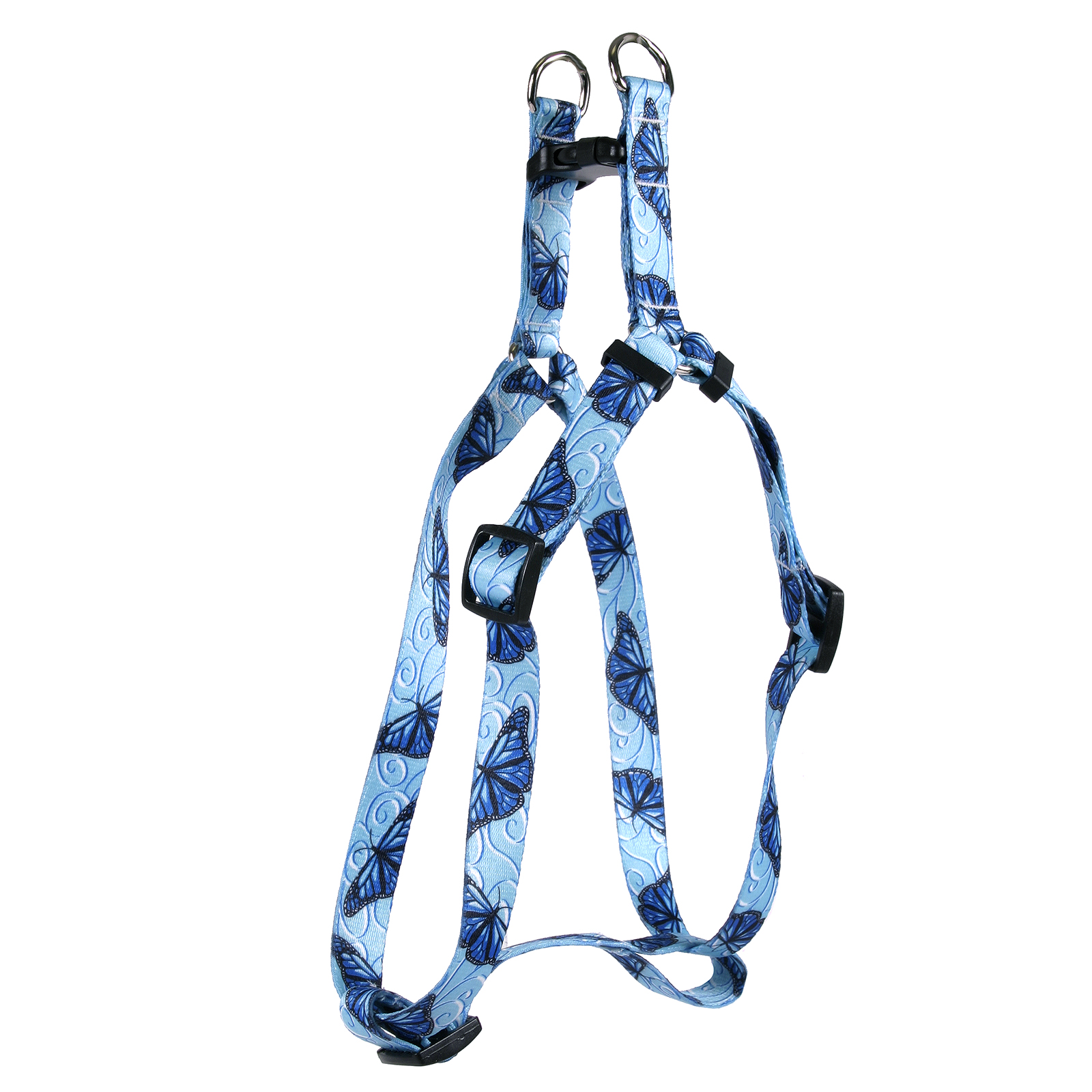 Blue Butterfly Swirl Step-In Harness