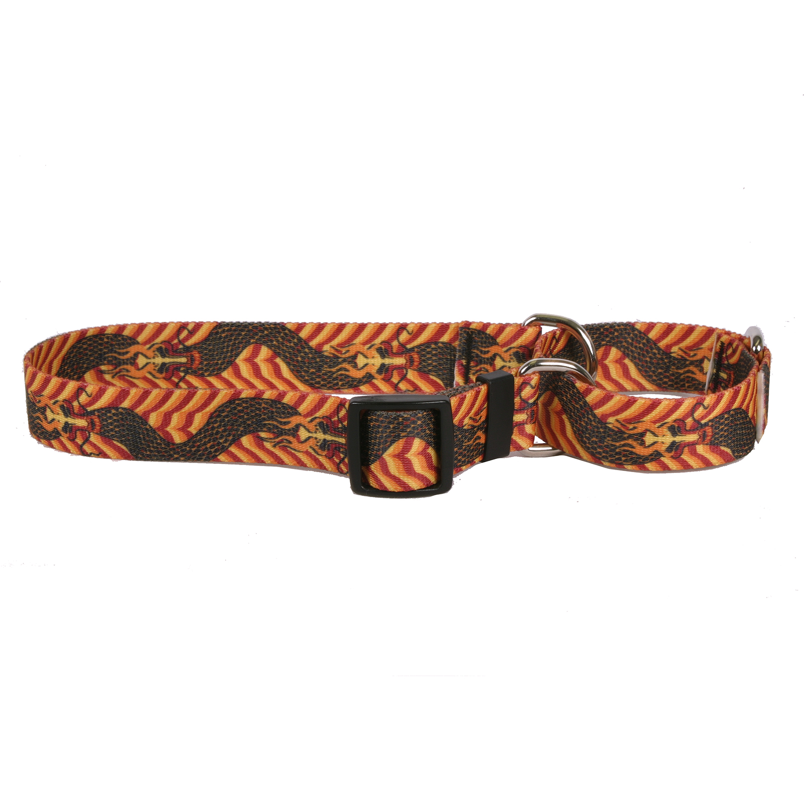 Dragon Wave Orange Martingale Collar