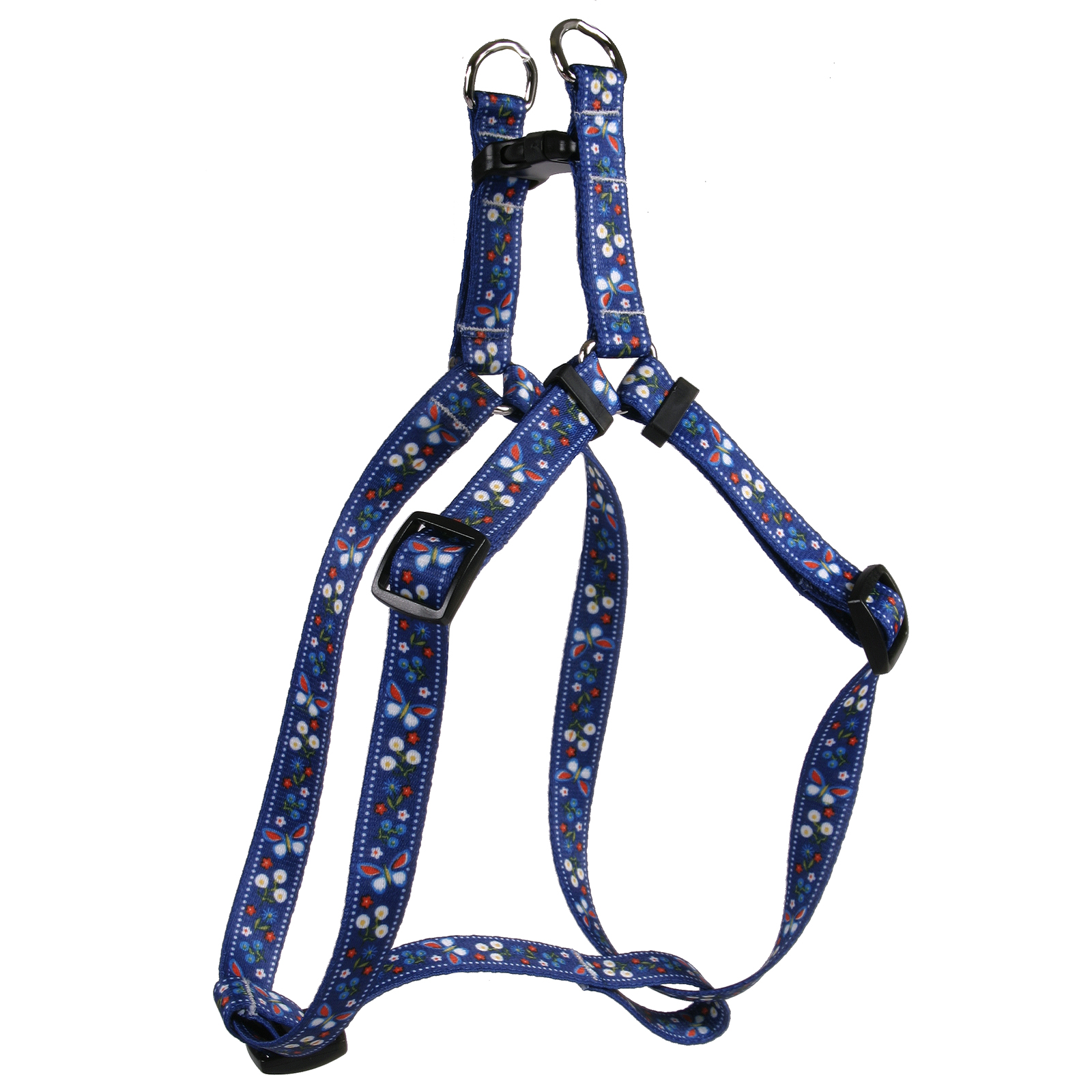 Festive Butterfly Blue Step-In Harness