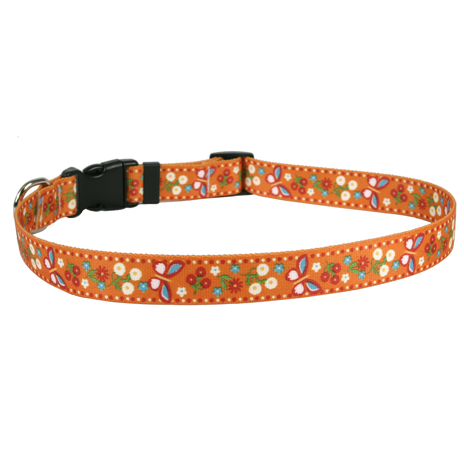 Festive Butterfly Orange Standard Collar