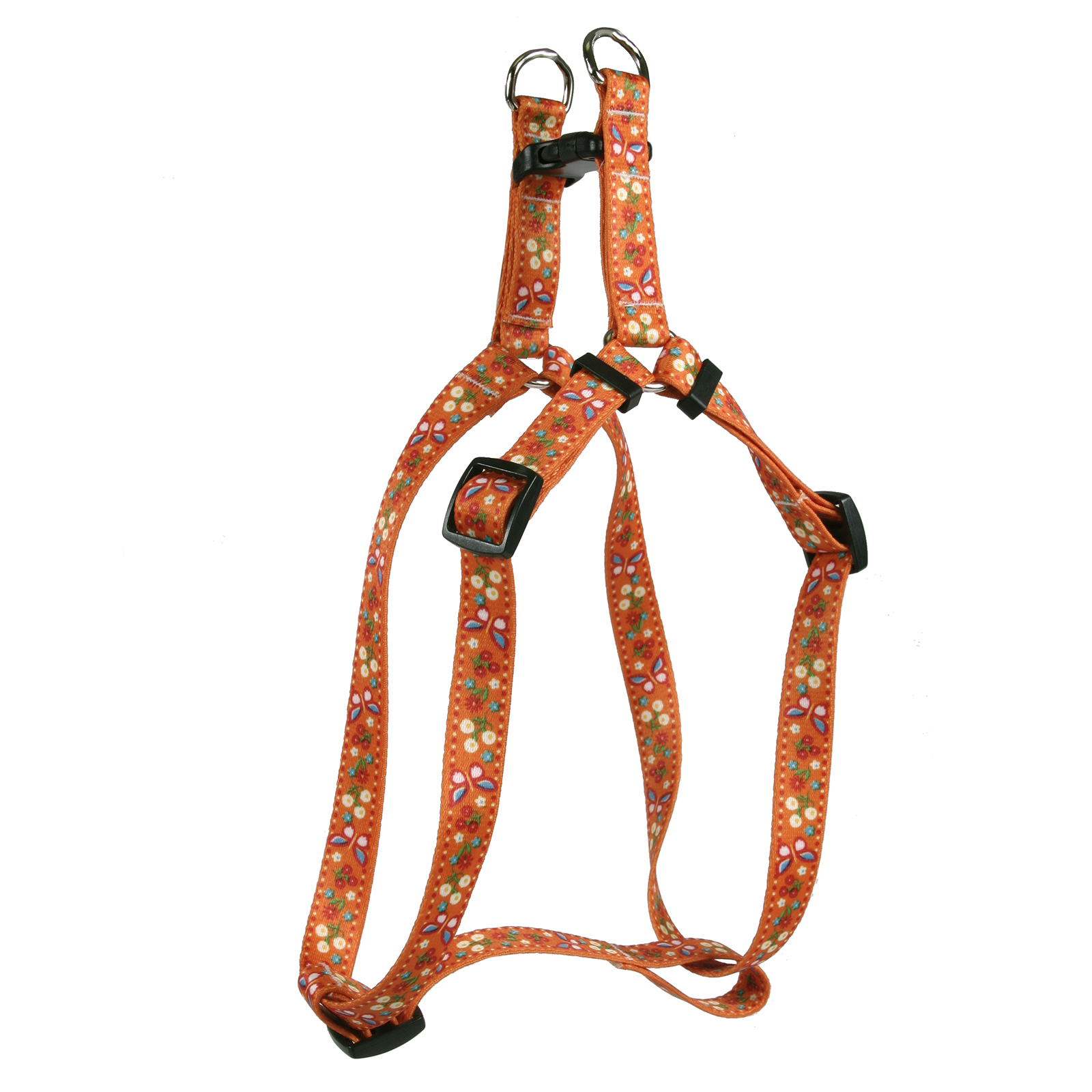 Festive Butterfly Orange Step-In Harness