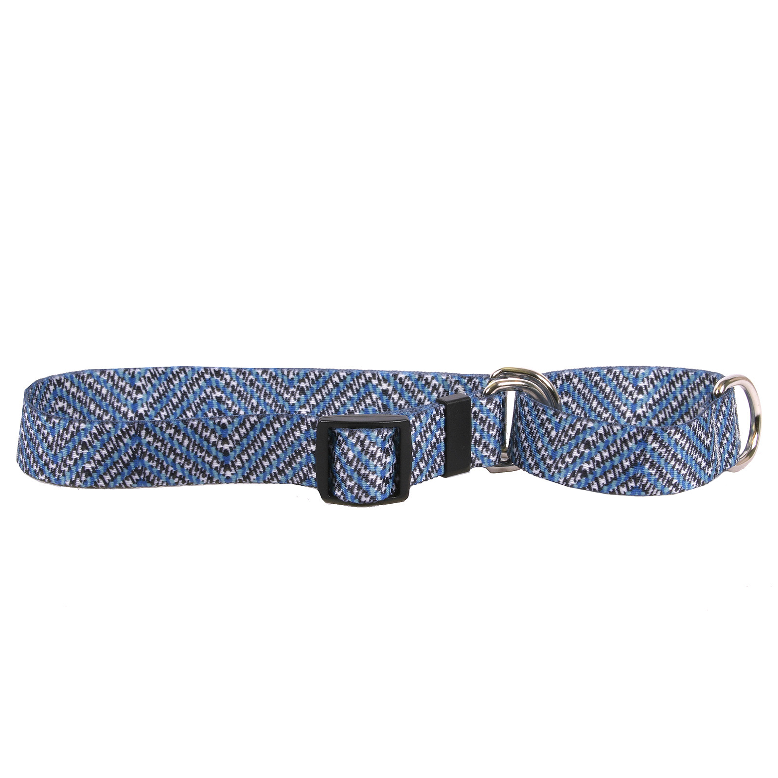 Blue Tweed Martingale Collar
