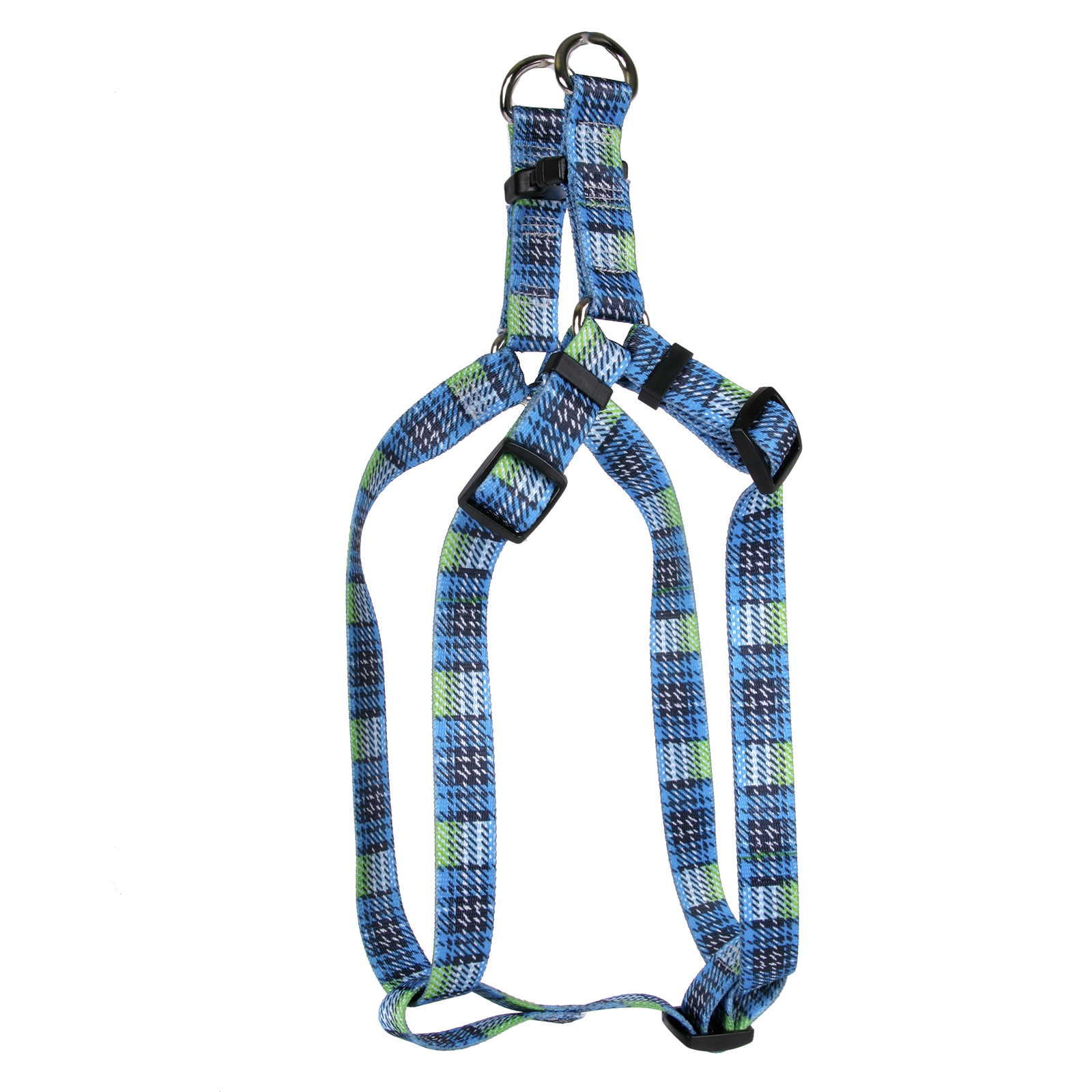Highland Plaid Blue and Black Step-In Harness