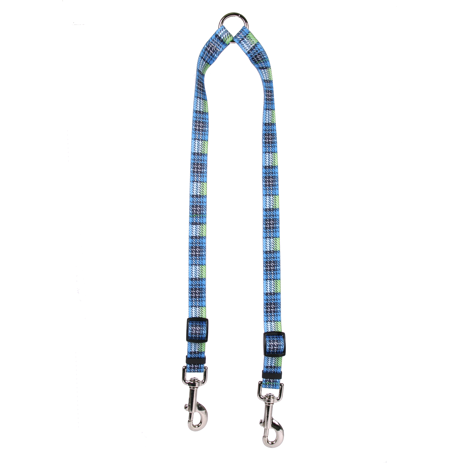 Highland Plaid Blue and Black Coupler Lead