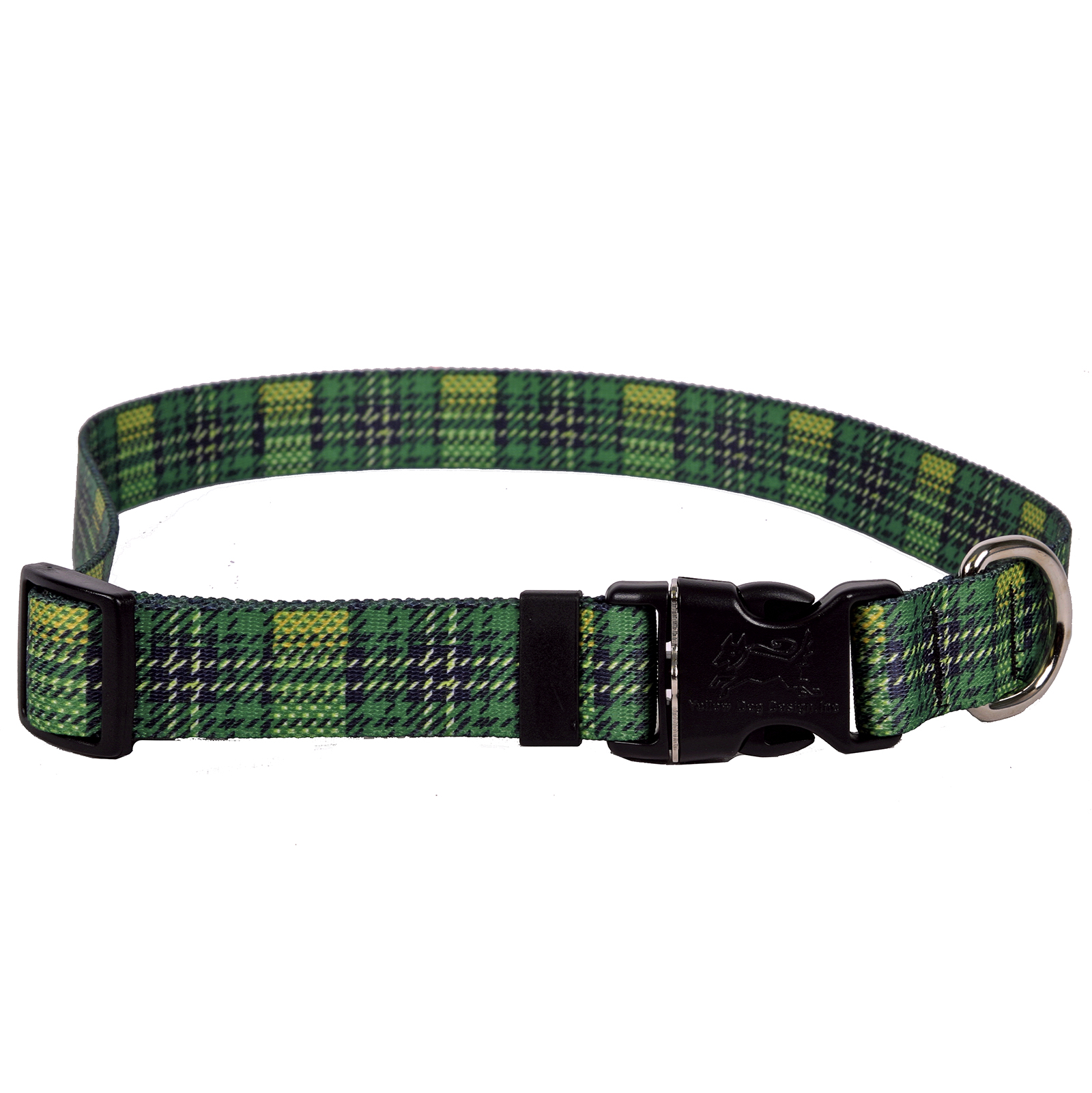 Highland Plaid Green and Gold Standard Collar