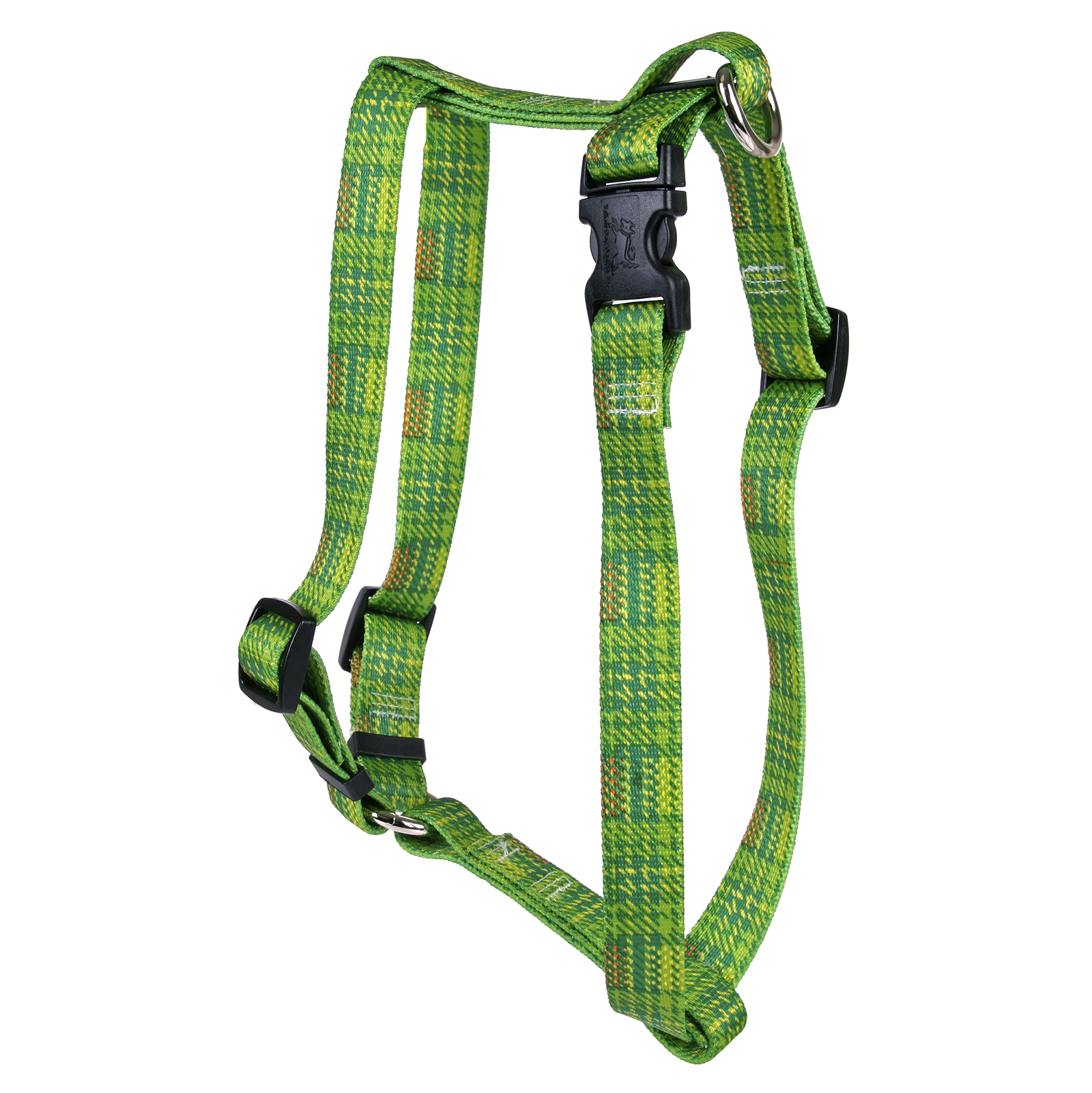 Highland Plaid Green and Orange Roman H Harness