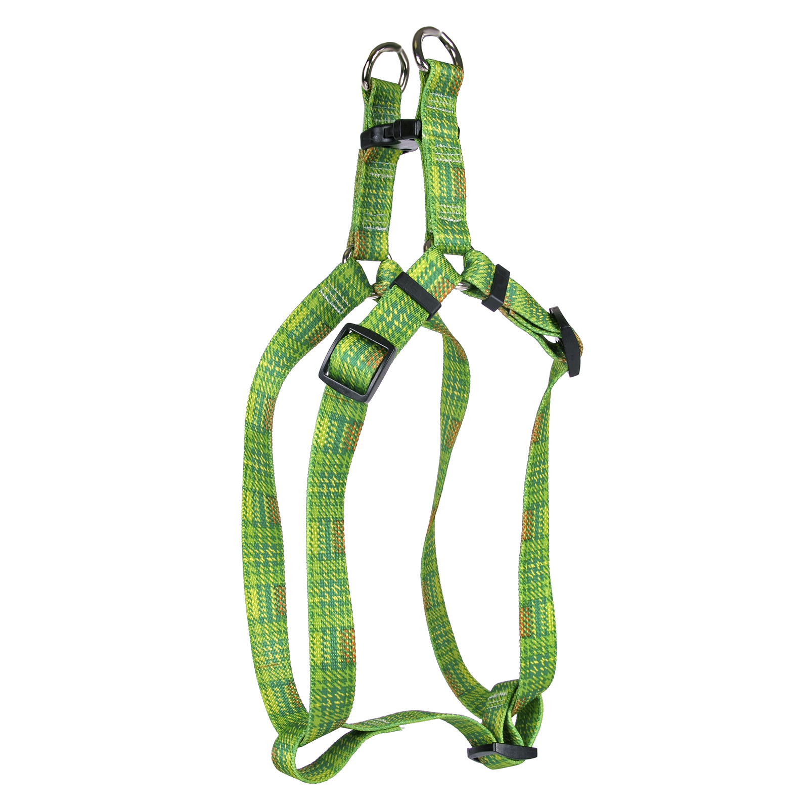 Highland Plaid Green and Orange Step-In Harness
