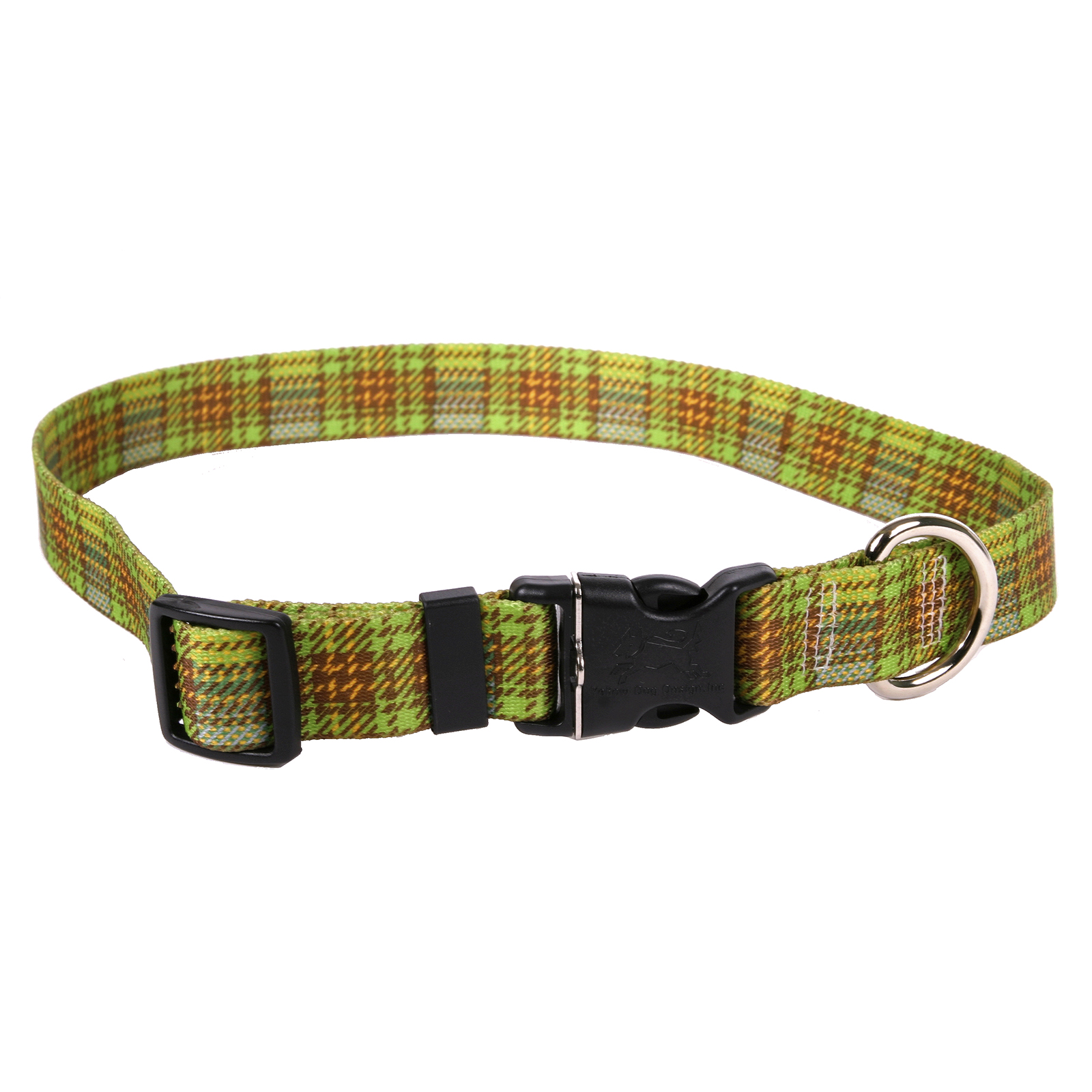 Highland Plaid Olive and Brown Standard Collar