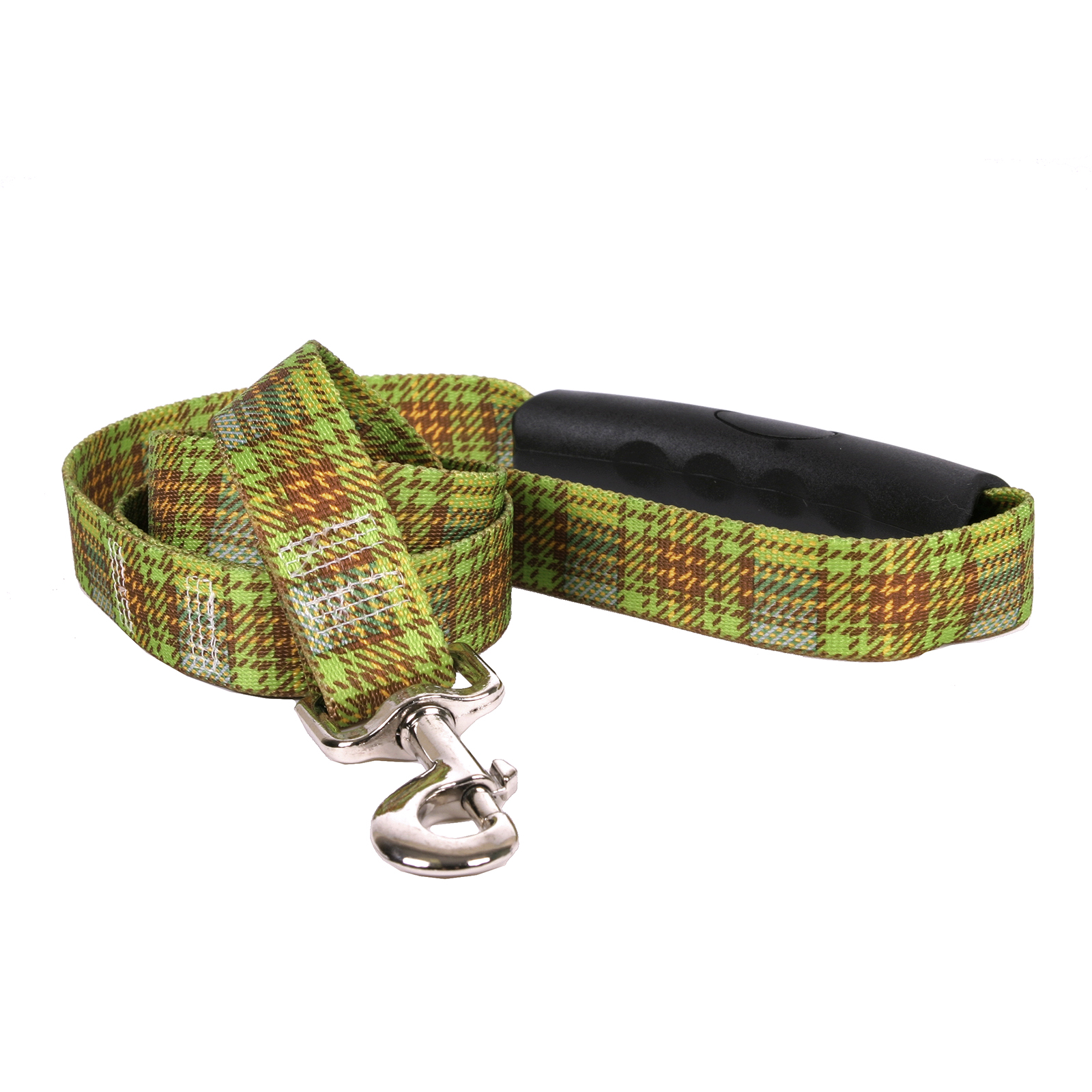 Highland Plaid Olive and Brown EZ-Lead