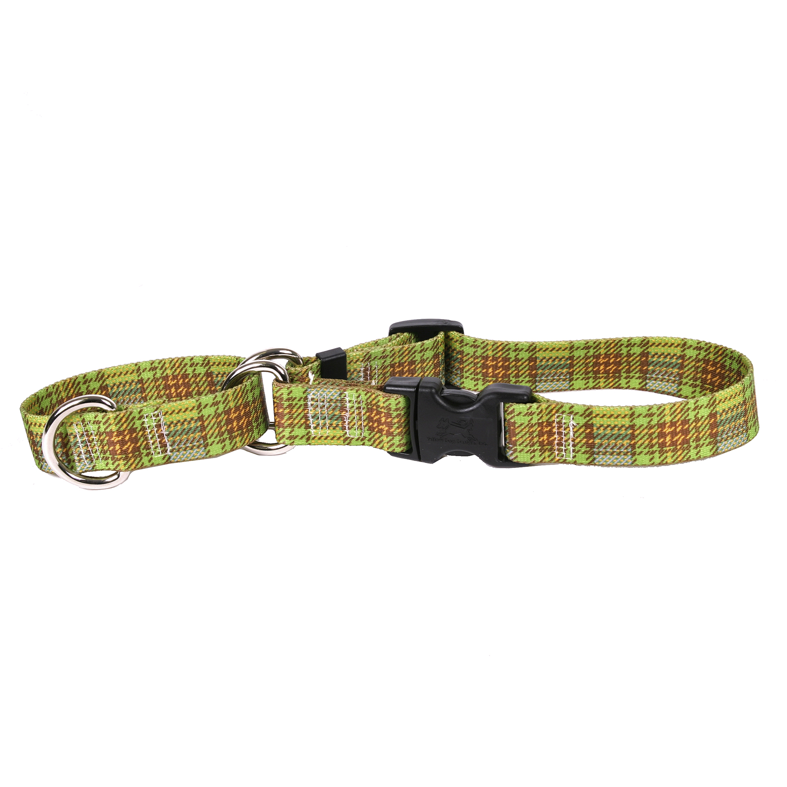 Highland Plaid Olive and Brown Martingale Collar