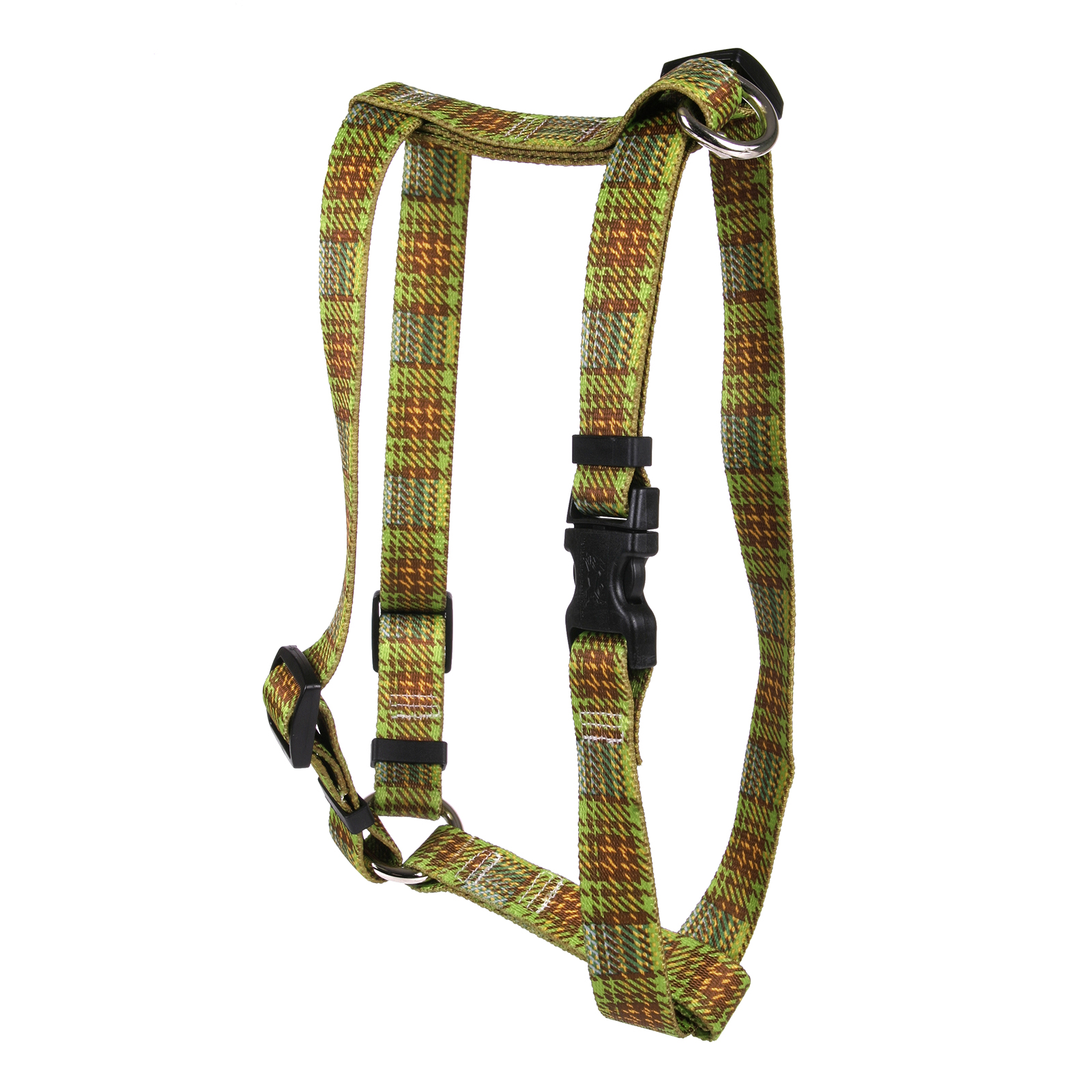 Highland Plaid Olive and Brown Roman H Harness