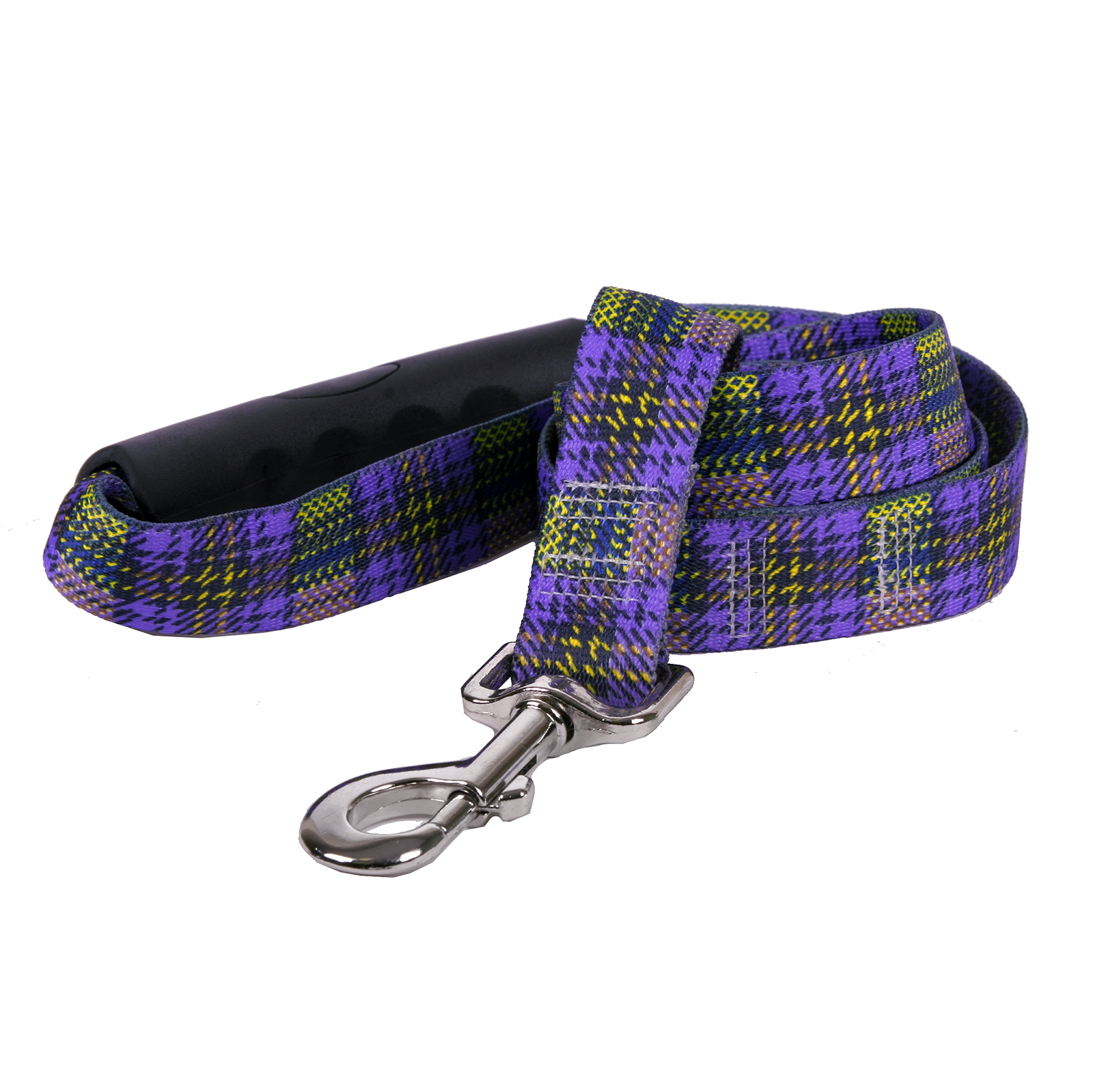 Highland Plaid Purple and Gold EZ-Lead
