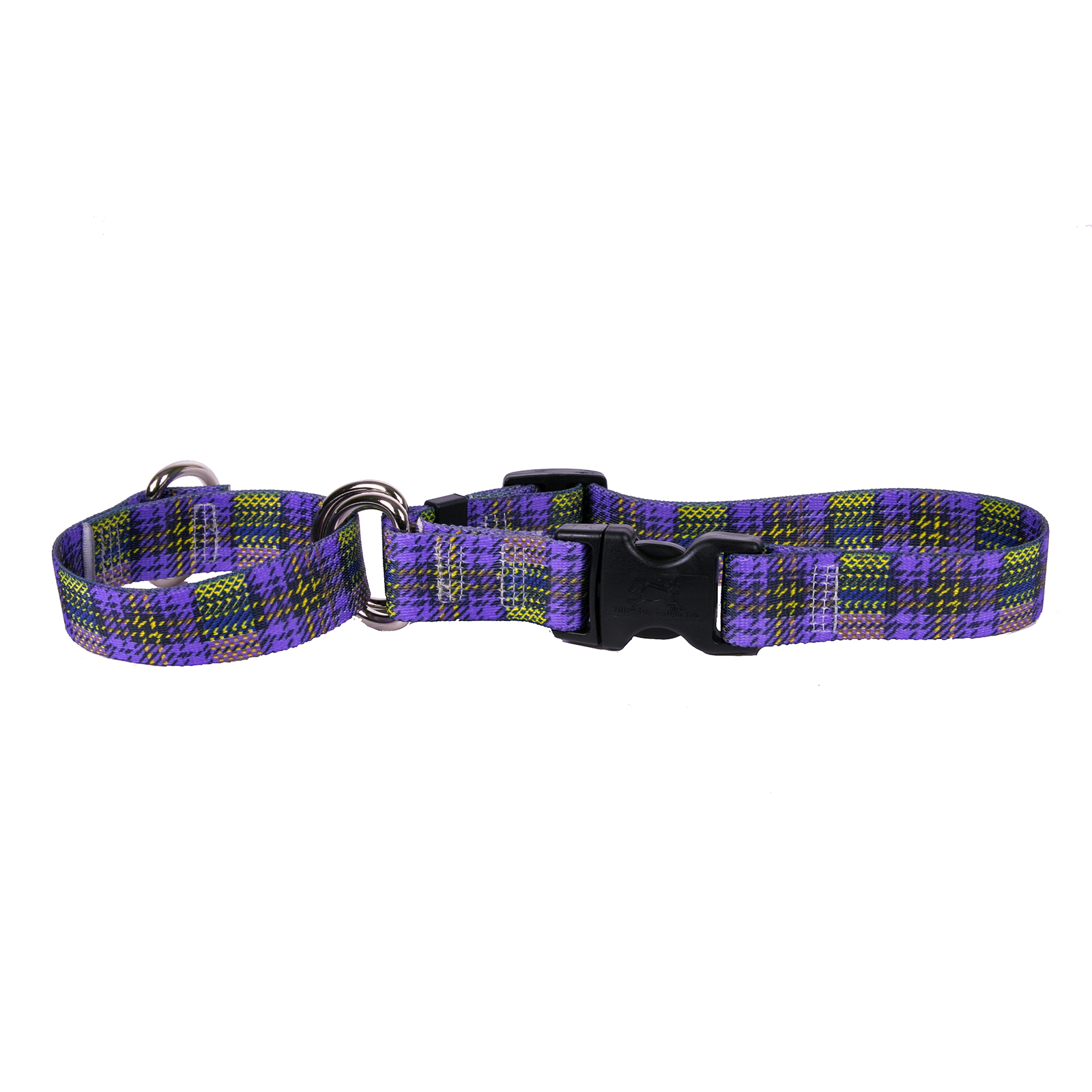 Highland Plaid Purple and Gold Martingale Collar