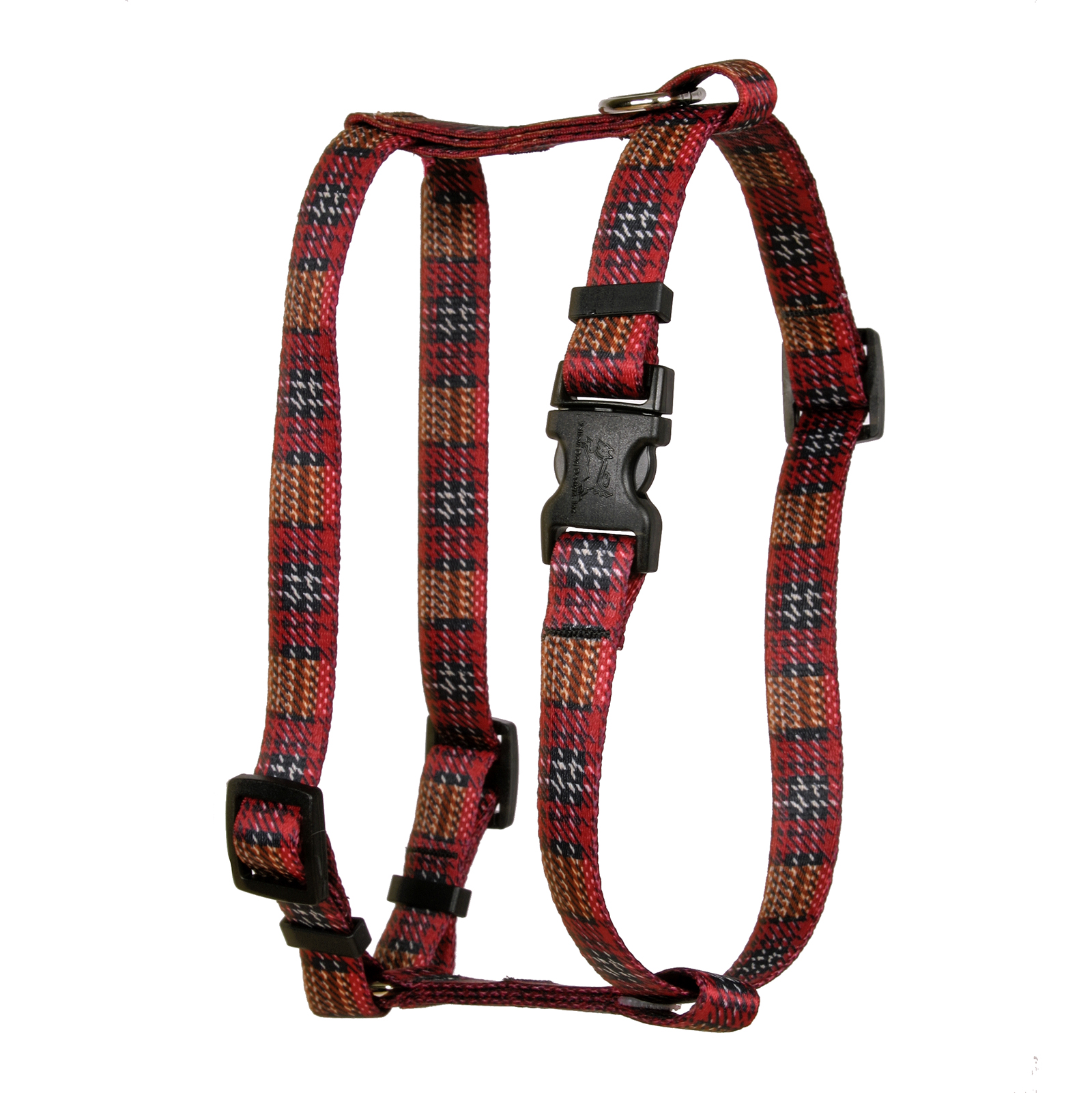 Highland Plaid Red and Brown Roman H Harness
