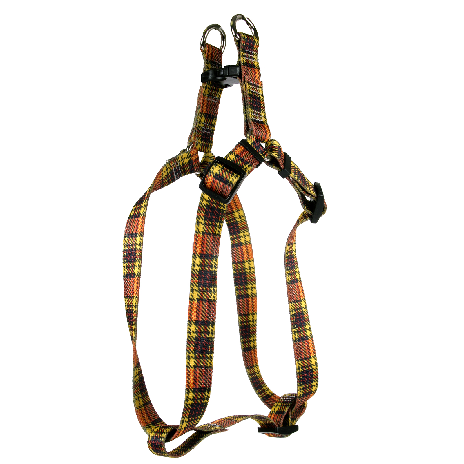 Highland Plaid Yellow and Orange Step-In Harness