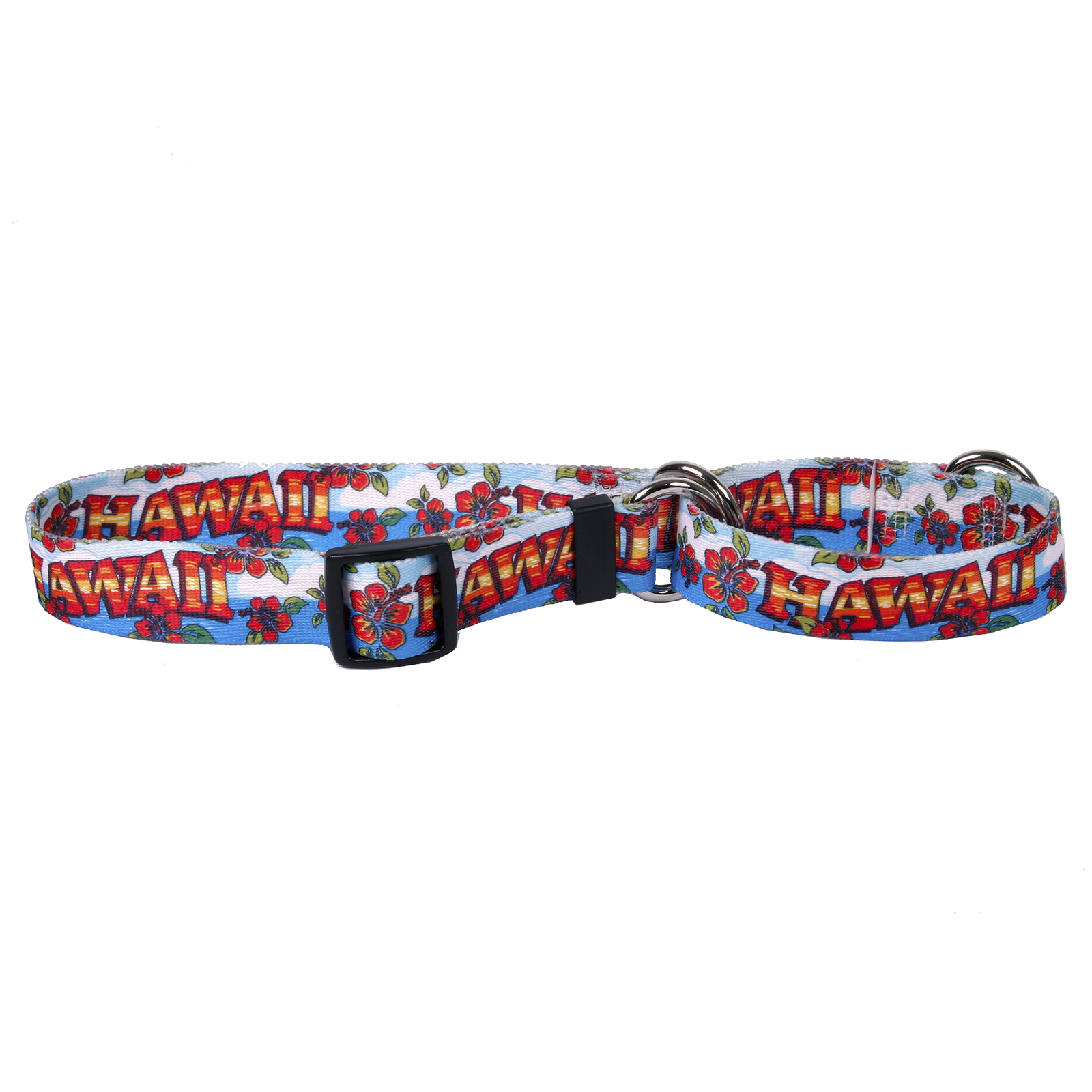Hawaii Red and Blue Martingale Collar