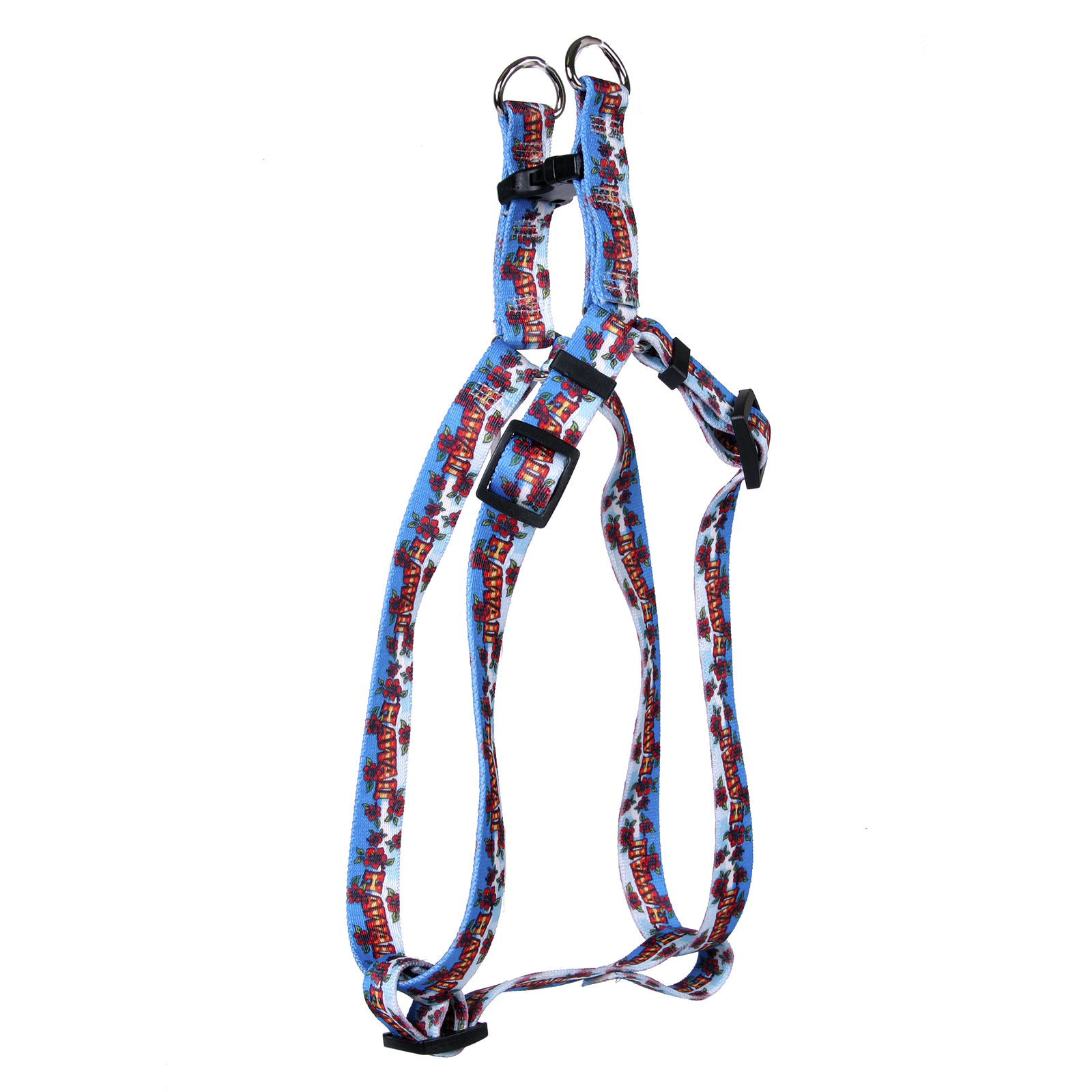 Hawaii Red and Blue Step-In Harness
