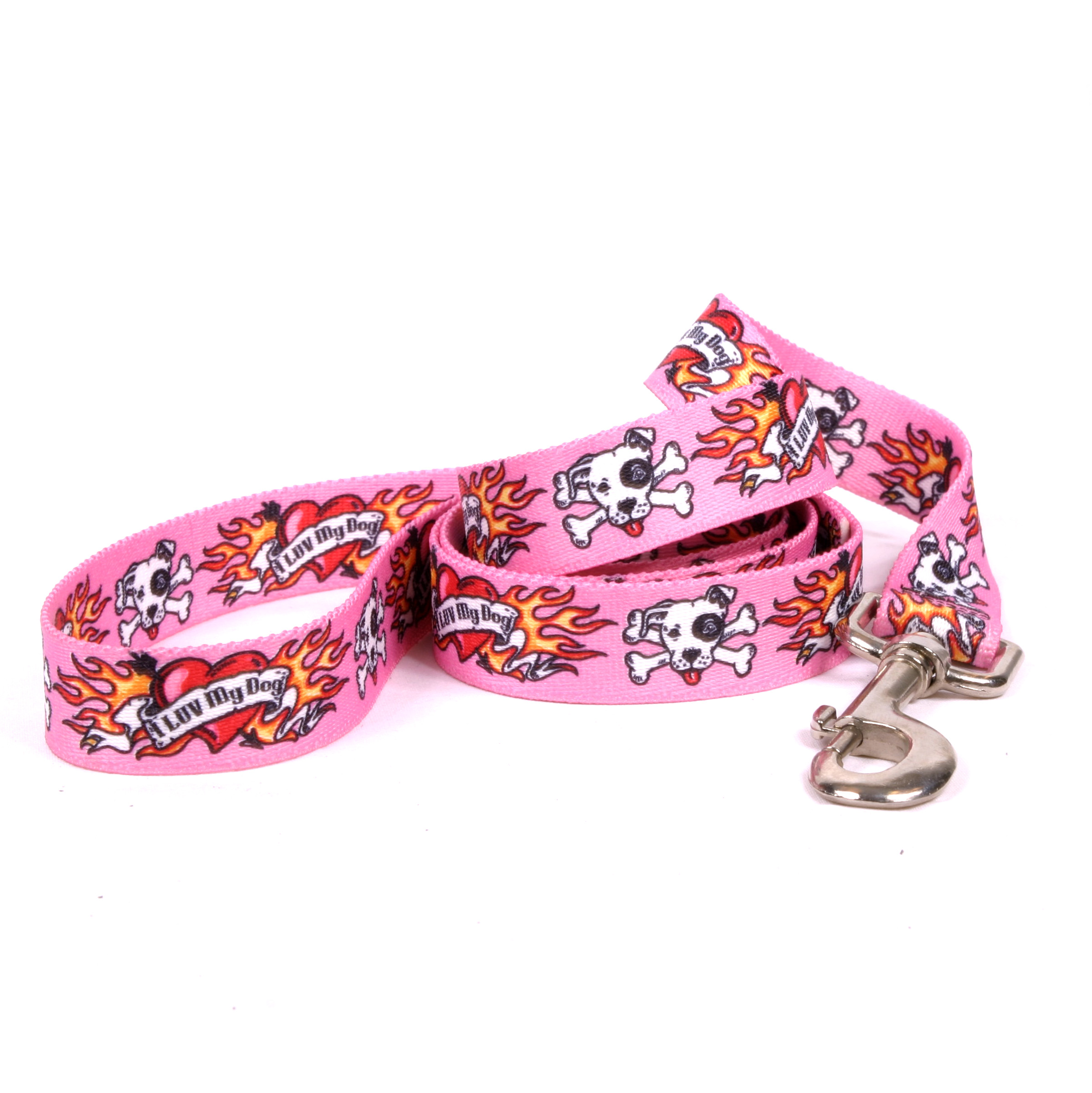 I Luv My Dog Pink Lead