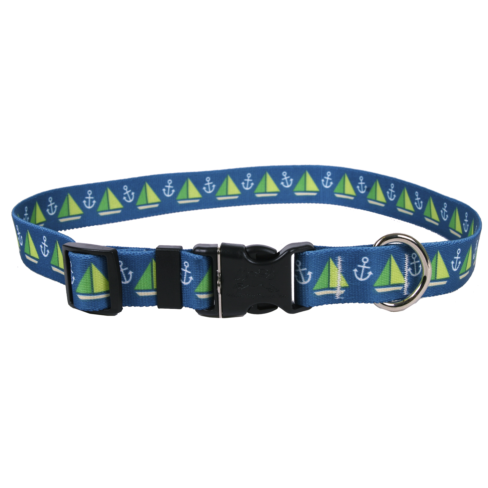Sailboats and Anchors Teal  Standard Collar