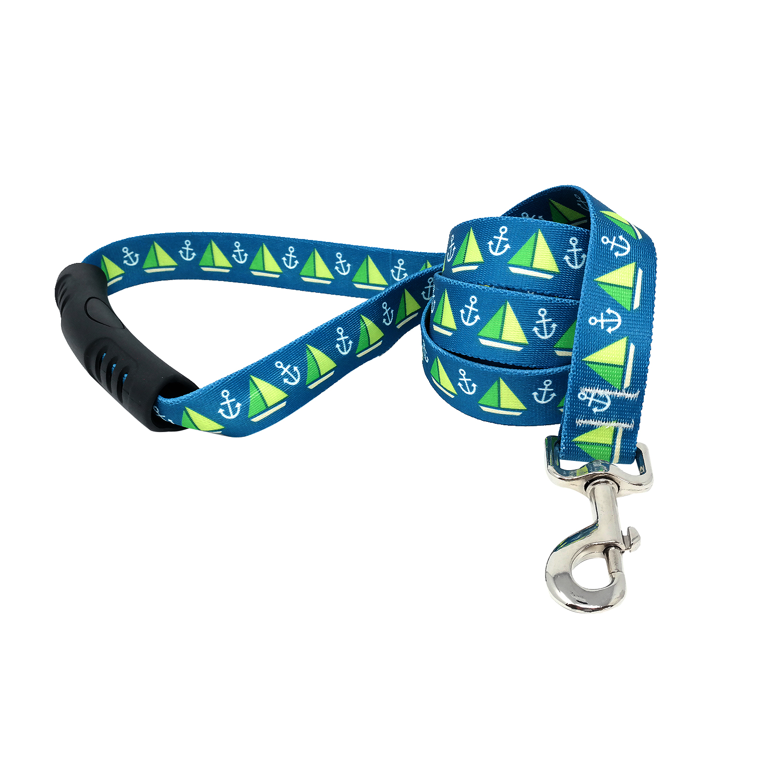 Sailboats and Anchors Teal  EZ-Lead