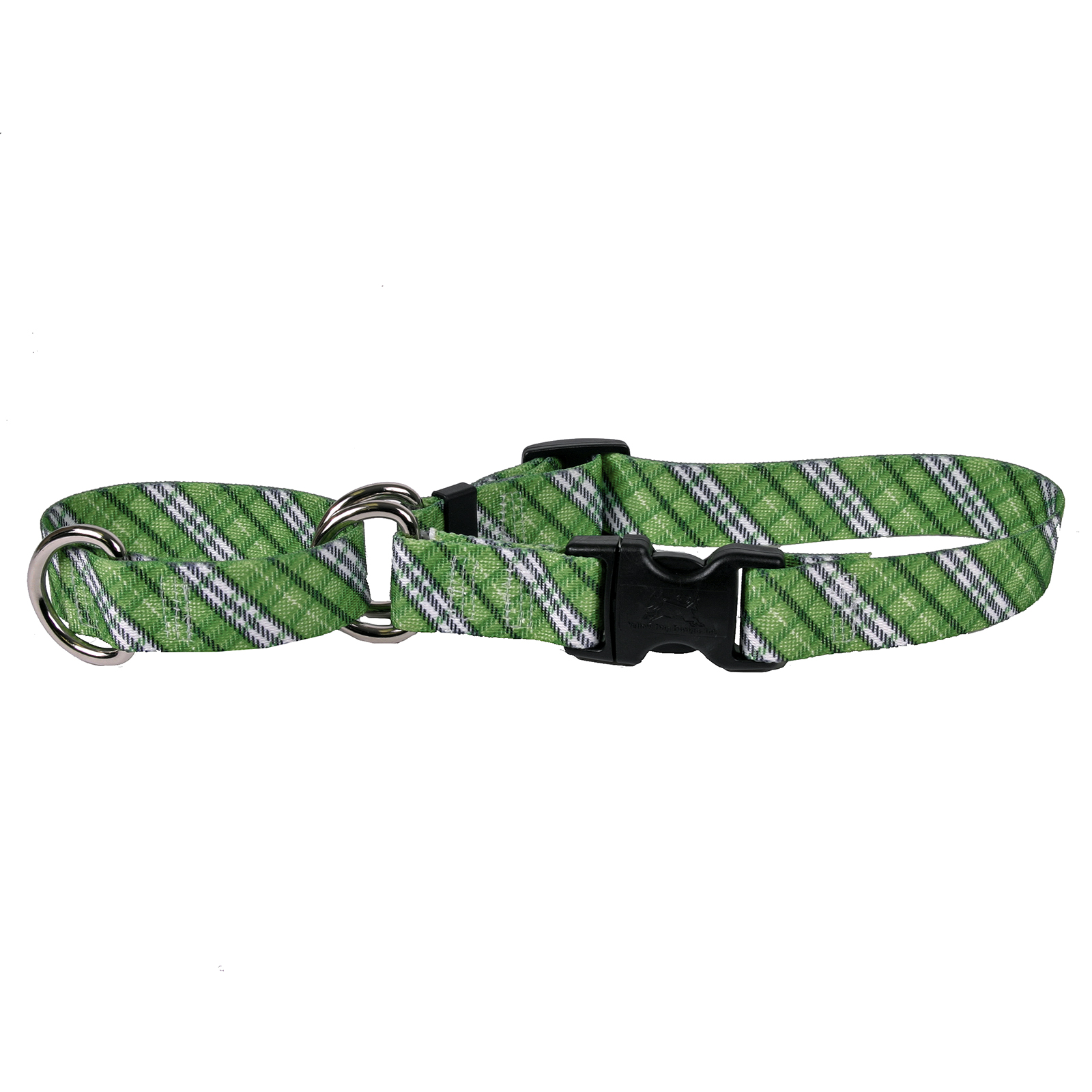 London Plaid Kelly Green Martingale Collar