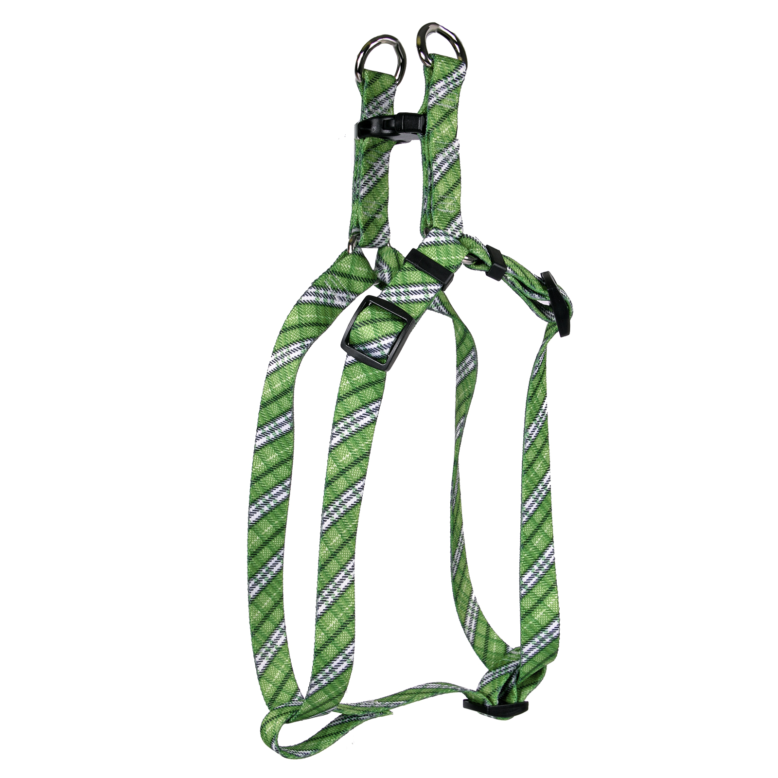 London Plaid Kelly Green Step-In Harness