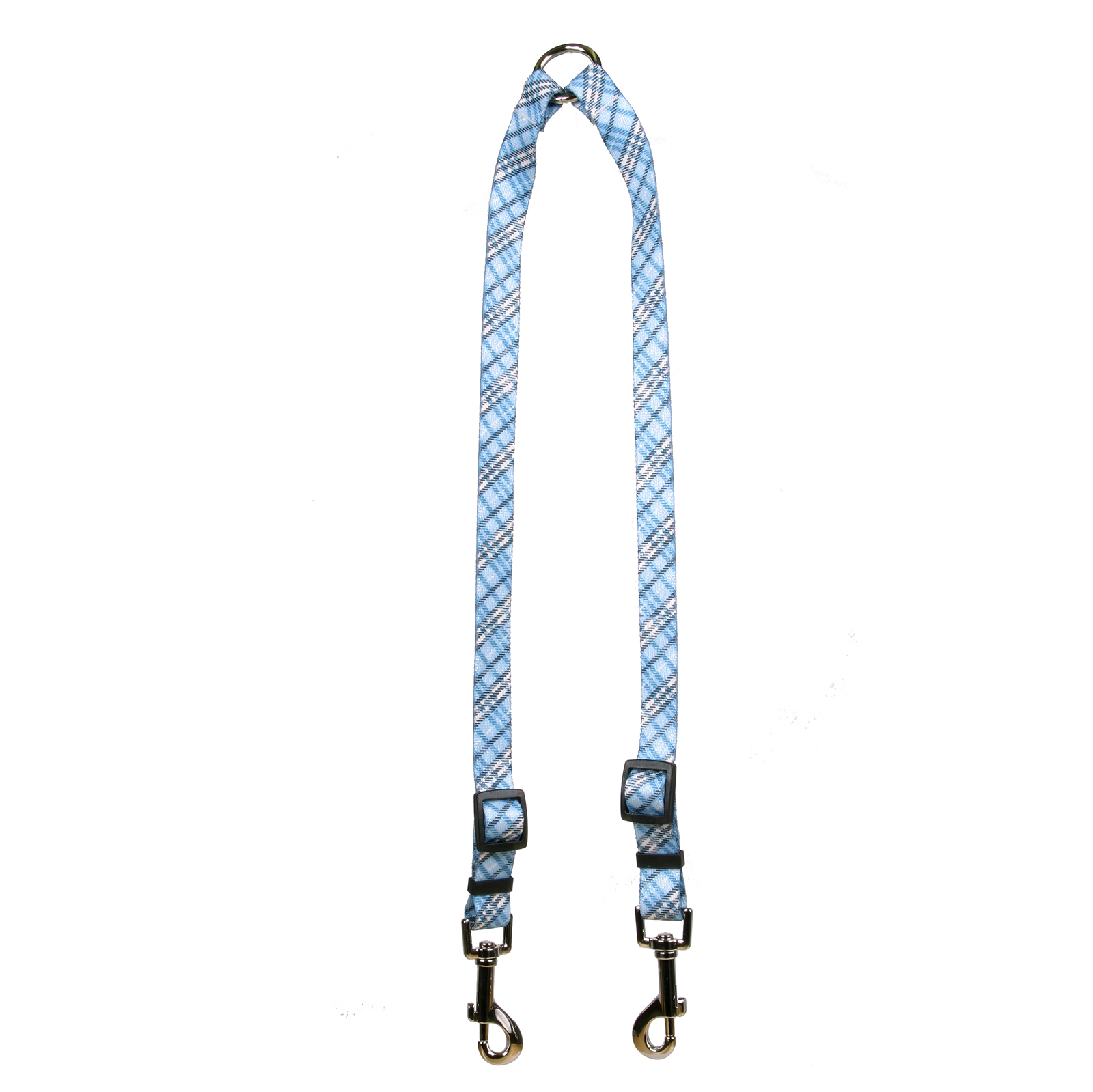 London Plaid Light Blue Coupler Lead
