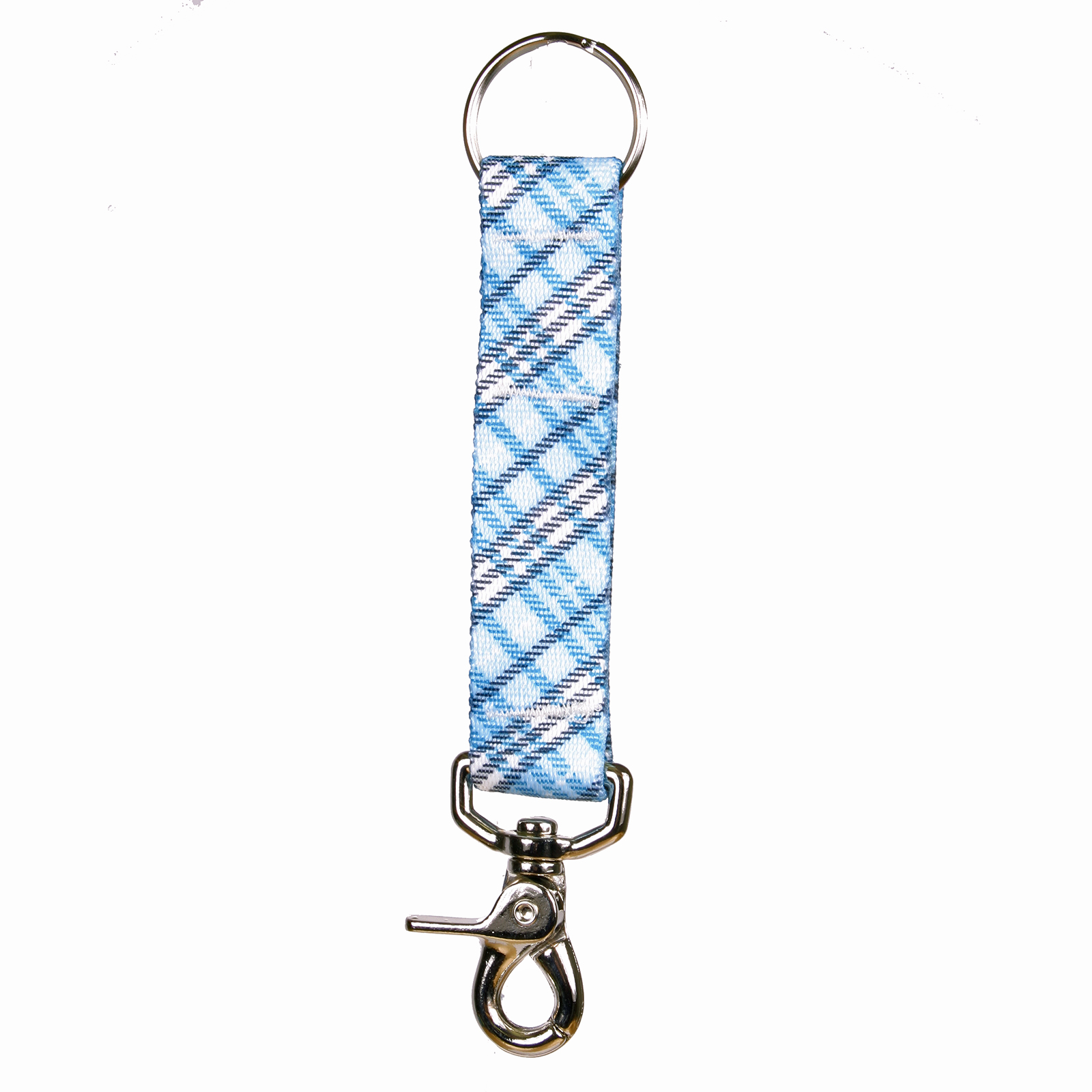 London Plaid Light Blue Keychan