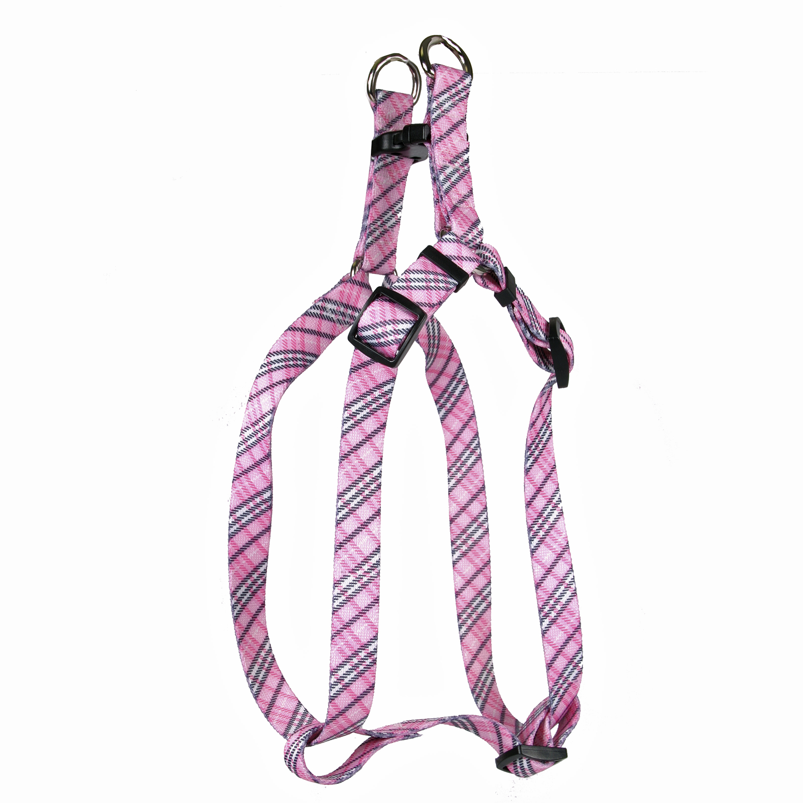 London Plaid Pink Step-In Harness