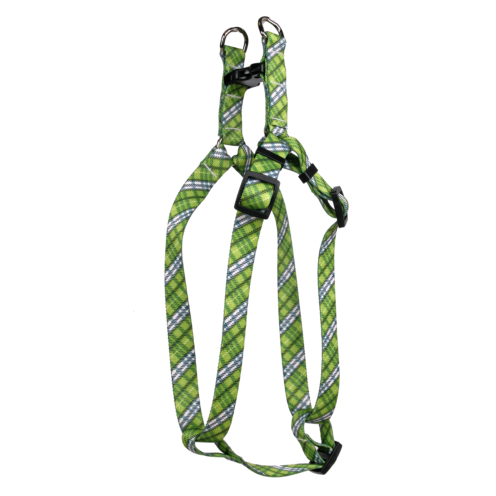 London Plaid Spring Green Step-In Harness