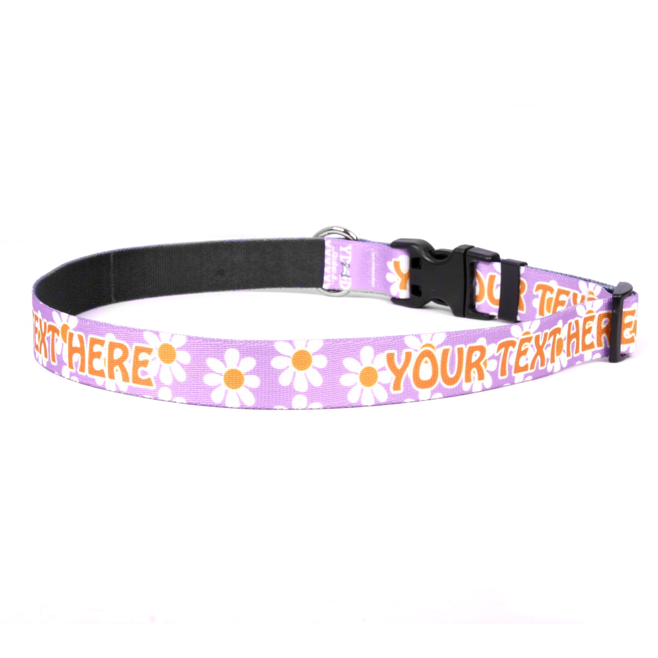 YDiD Personalized Lavender Daisy Dog Collar