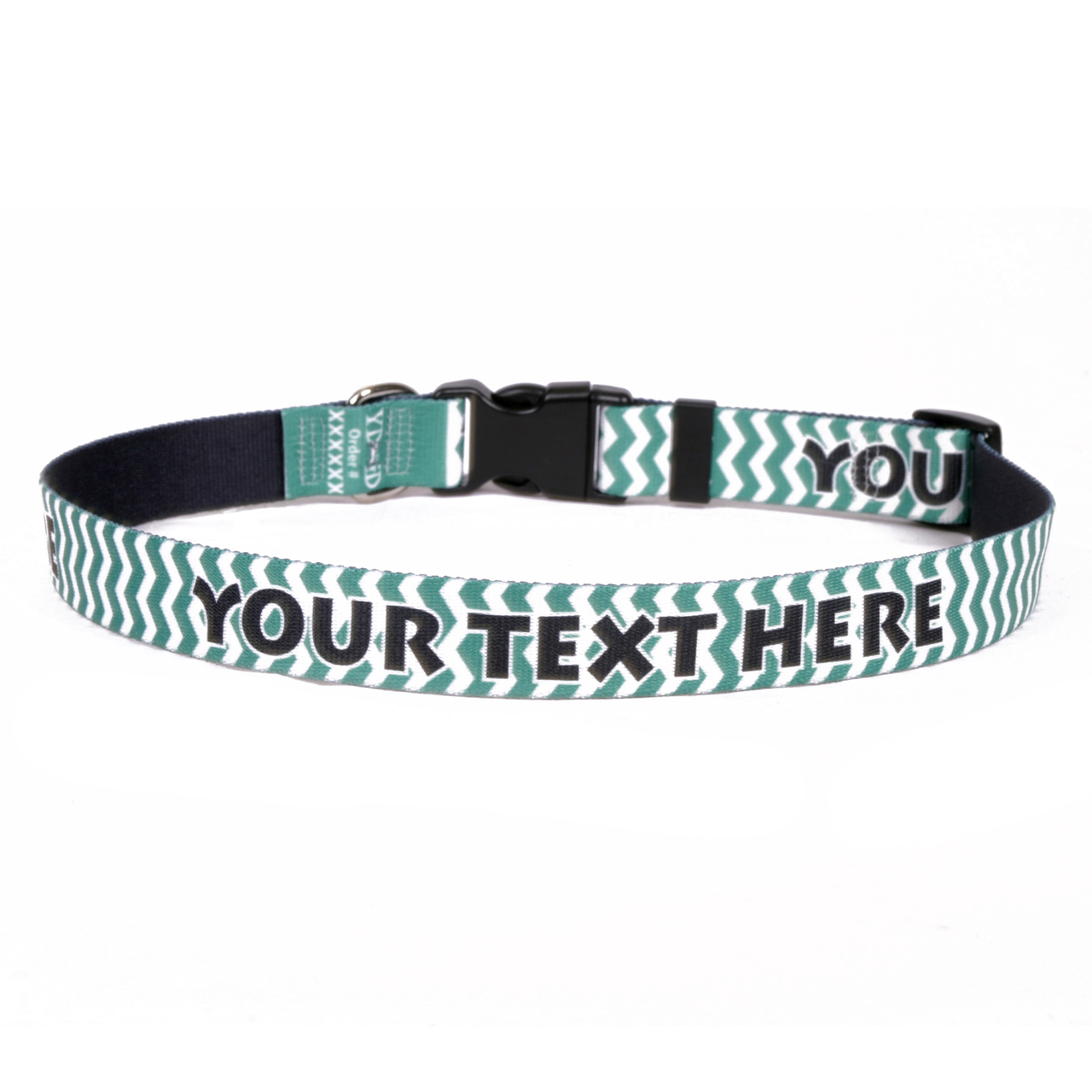 YDiD Personalized Chevron Lime Dog Collar