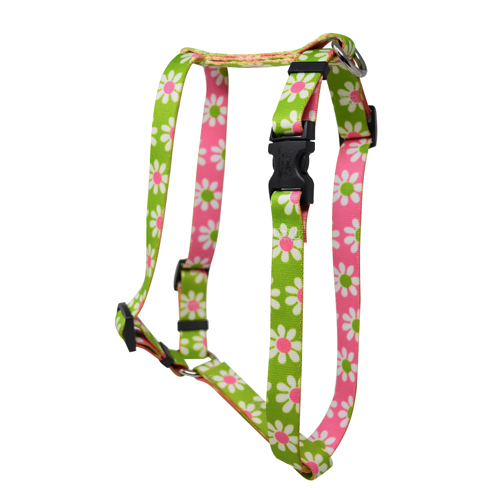 Green & Pink  Daisy Roman H Harness