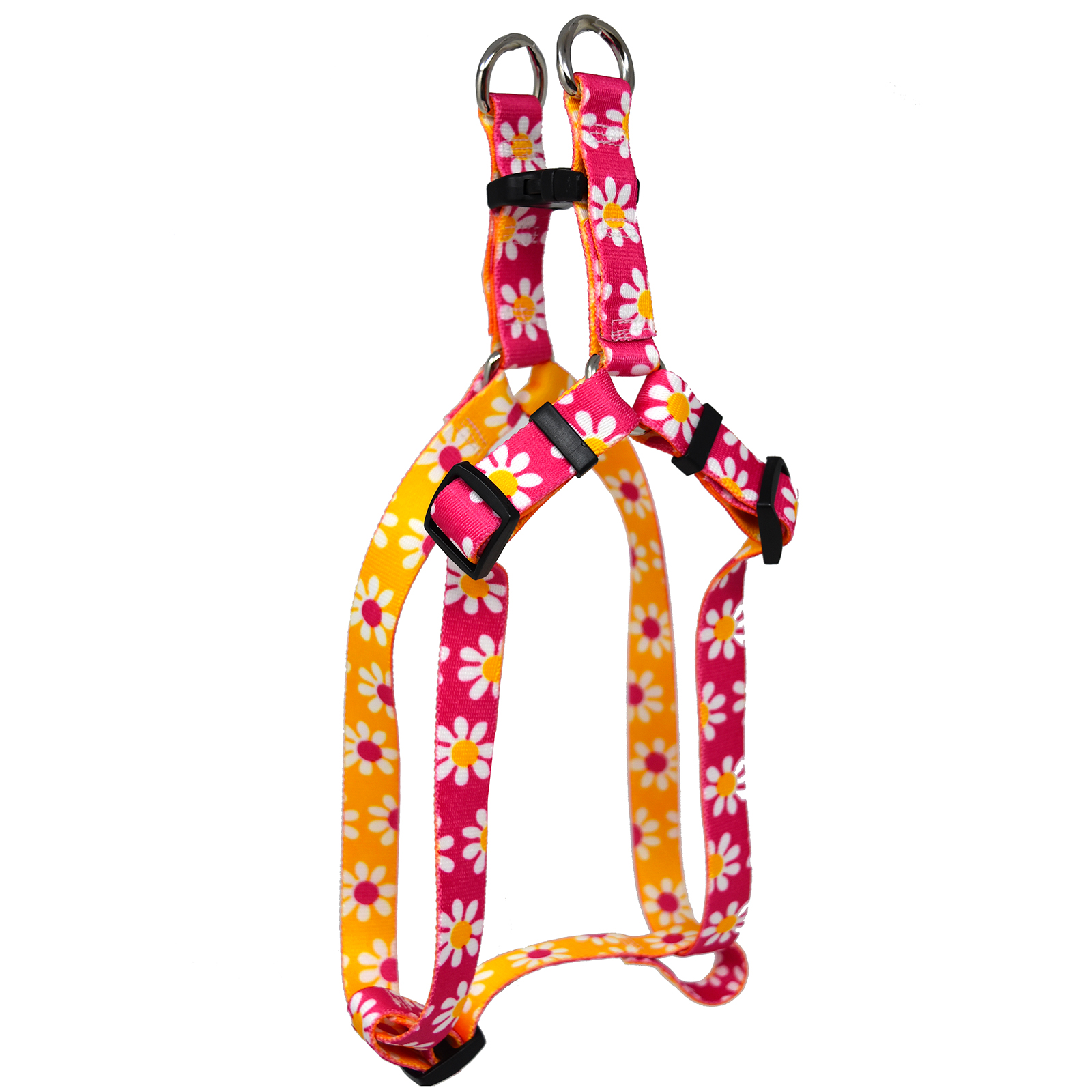 Magenta & Goldenrod Daisy Step-In Harness