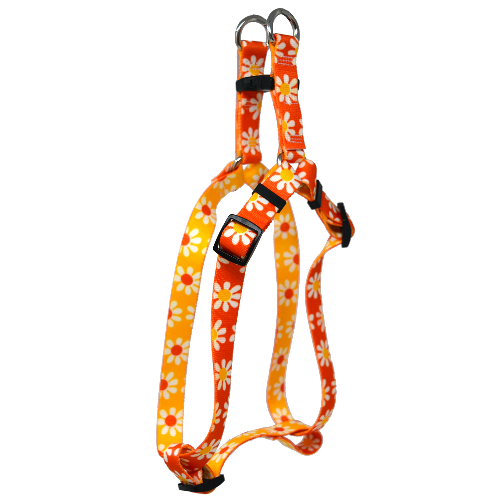 Orange & Goldenrod Daisy Step-In Harness