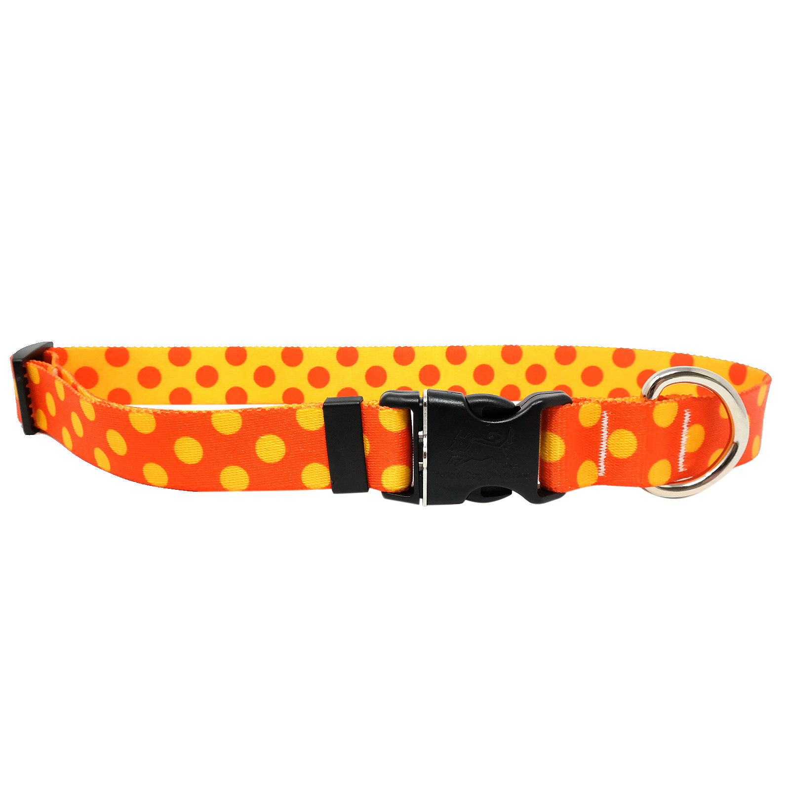 Orange & Goldenrod Polka Standard Collar