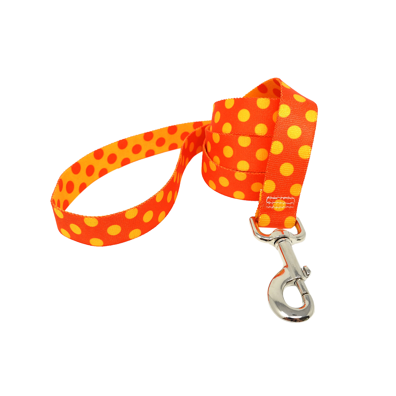 Orange & Goldenrod Polka Lead