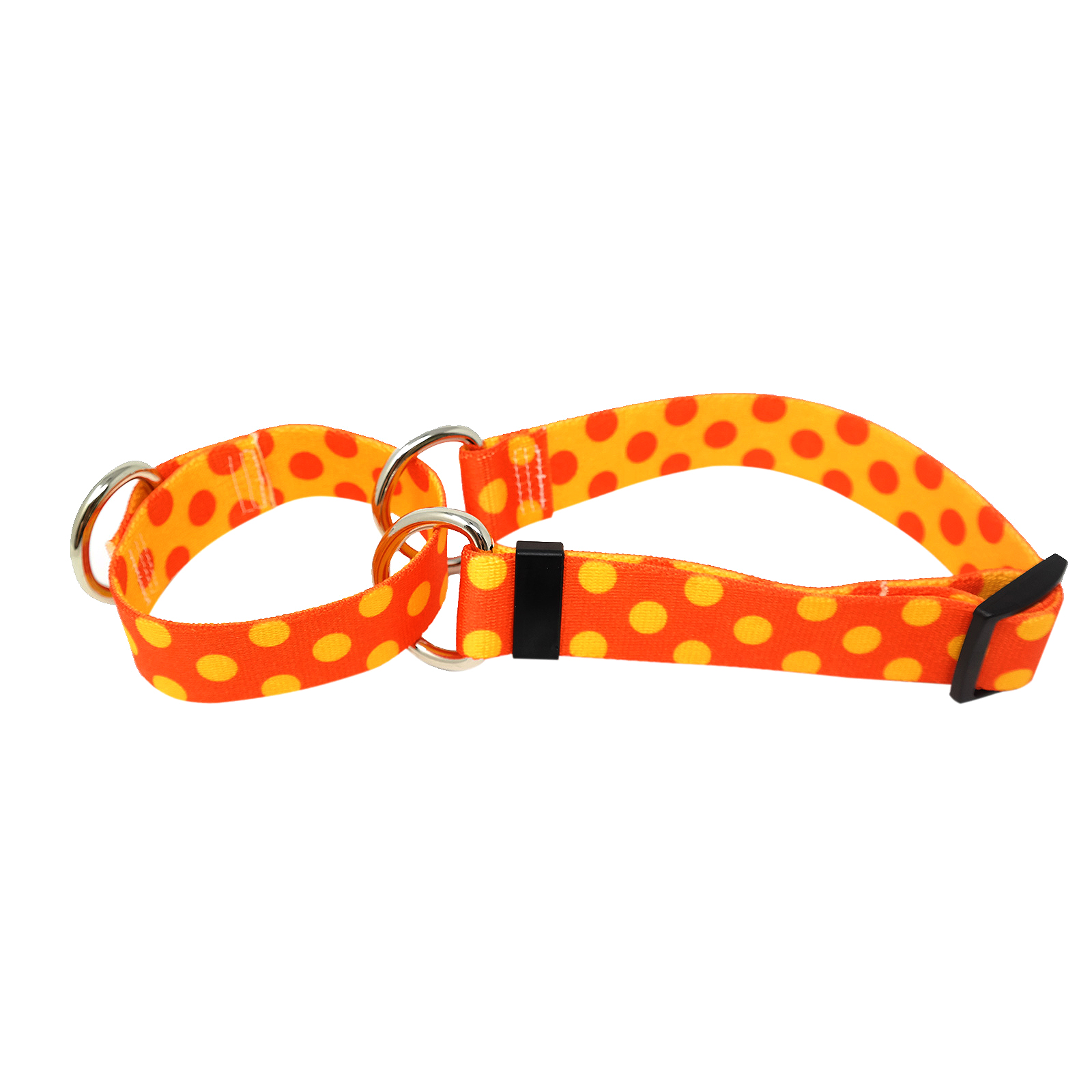 Orange & Goldenrod Polka Martingale Collar